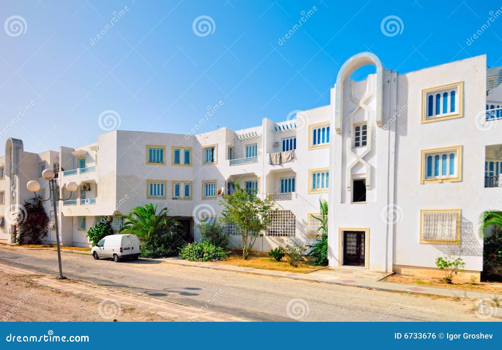 Casa araba moderna di stile fotografia stock immagine di for Casa moderna tunisie