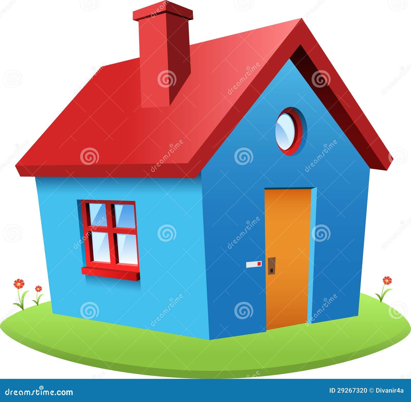 Casa azul do vetor