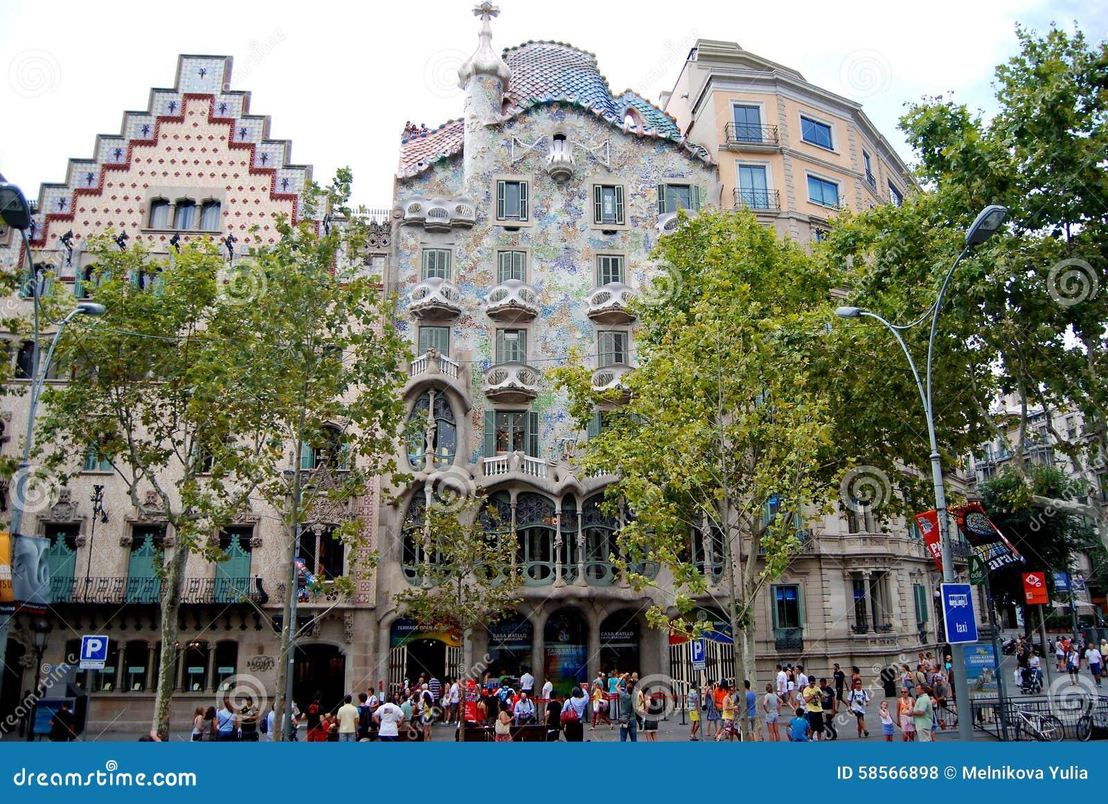 4f4c7b137c Casa Baio in Barcelona editorial stock photo. Image of catalan ...
