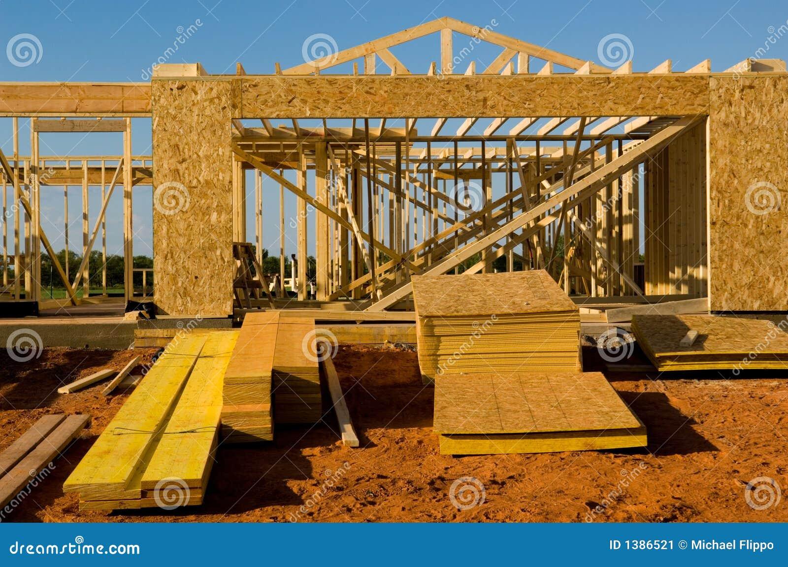 Casa bajo construcción
