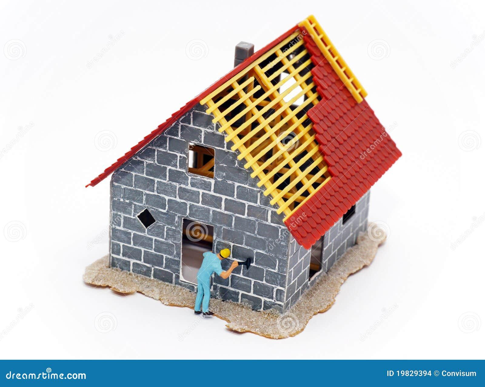 Casa bajo construcci n foto de archivo imagen de - Construccion de casa ...