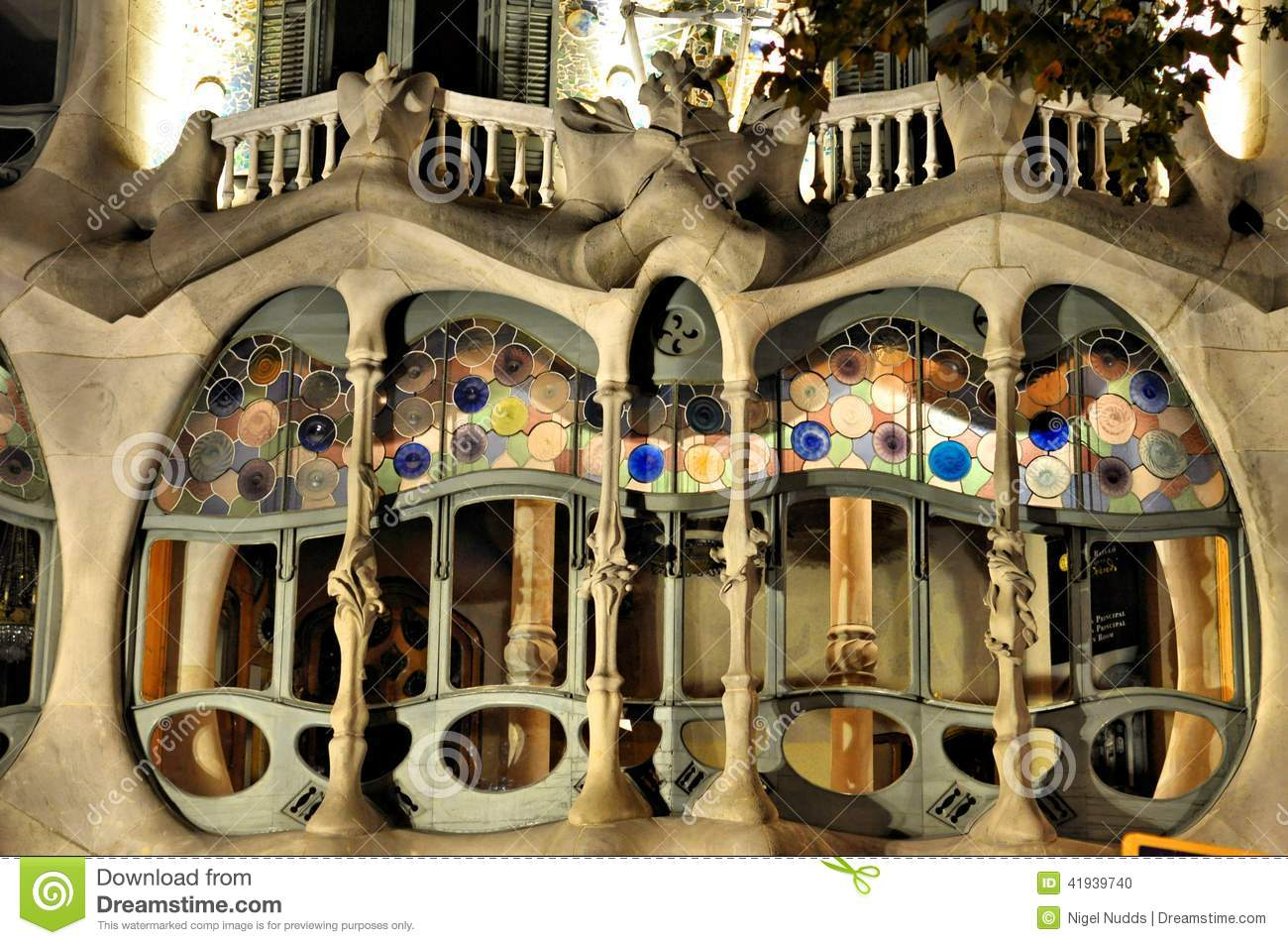 Casa batilo barcelona spain stock photo image 41939740 - Natura casa barcelona ...