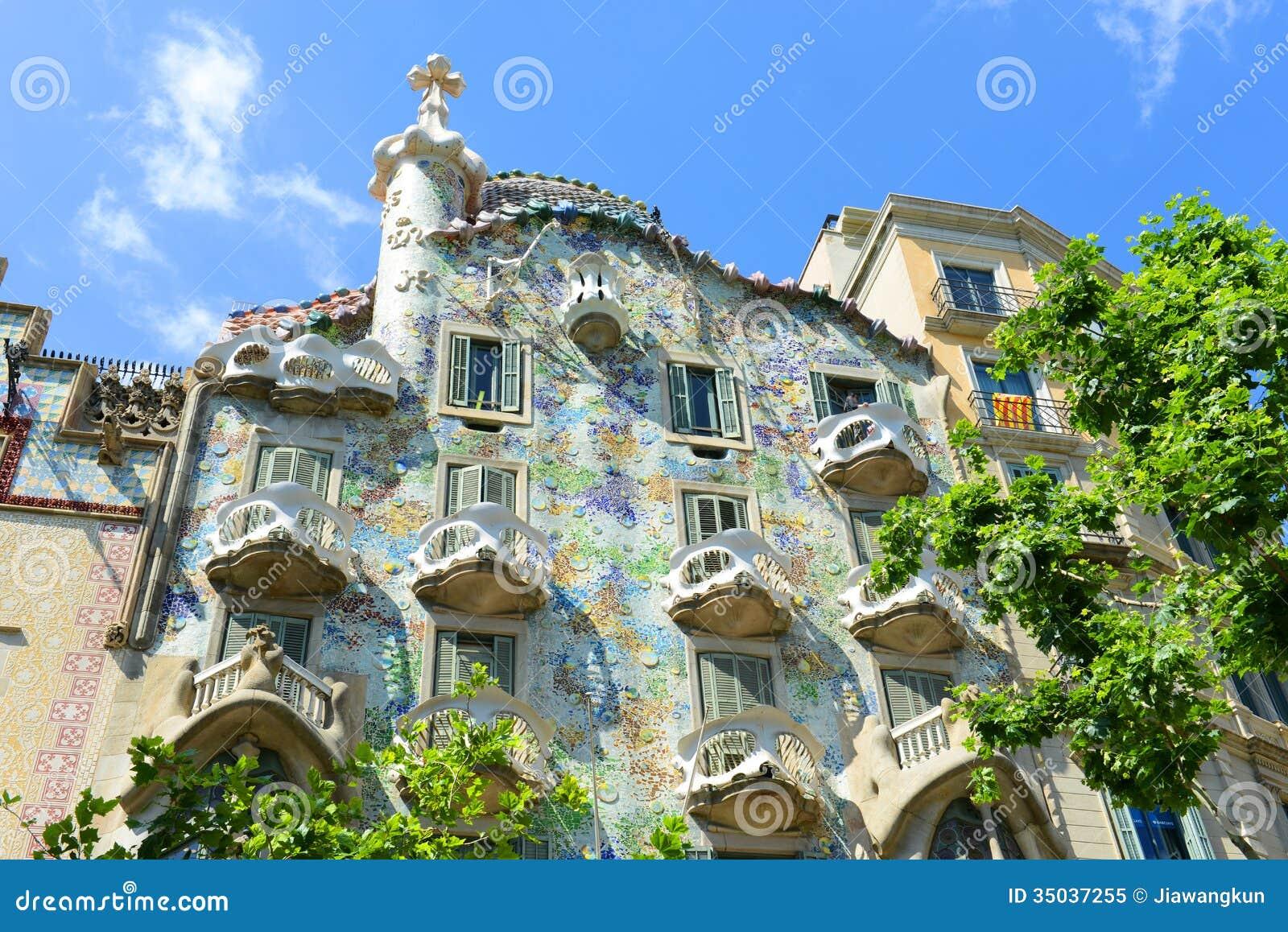 Casa Batllo, Eixample område, Barcelona, Spanien