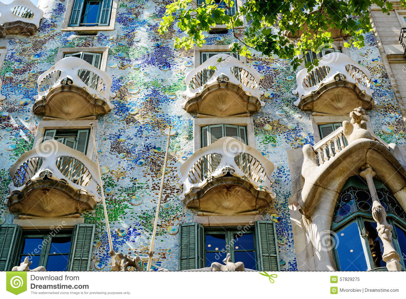 Casa batllo fragment stock image image of battlo - Fragments bcn ...