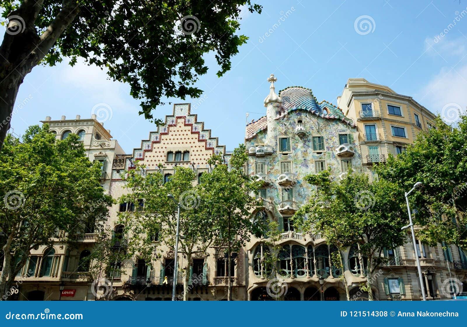 Casa Batllo, Gaudi ` s odpokutowywał, w Barcelona