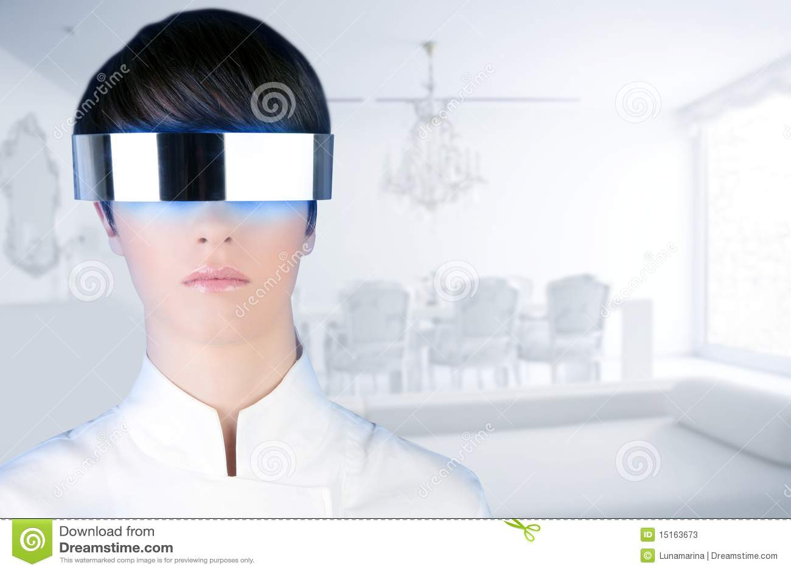 Casa blanca moderna de la mujer futurista de plata de los for Casa de diseno la plata