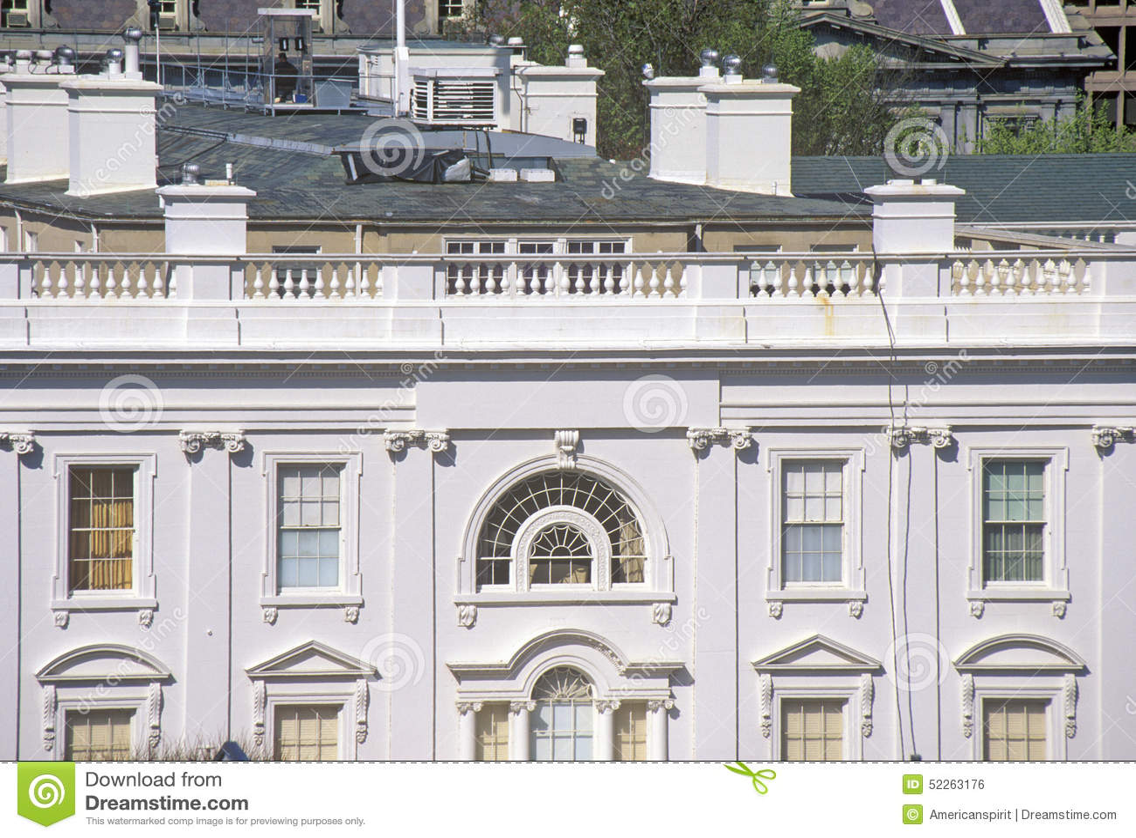 Casa Blanca, una vista de cuartos privados, Washington, DC