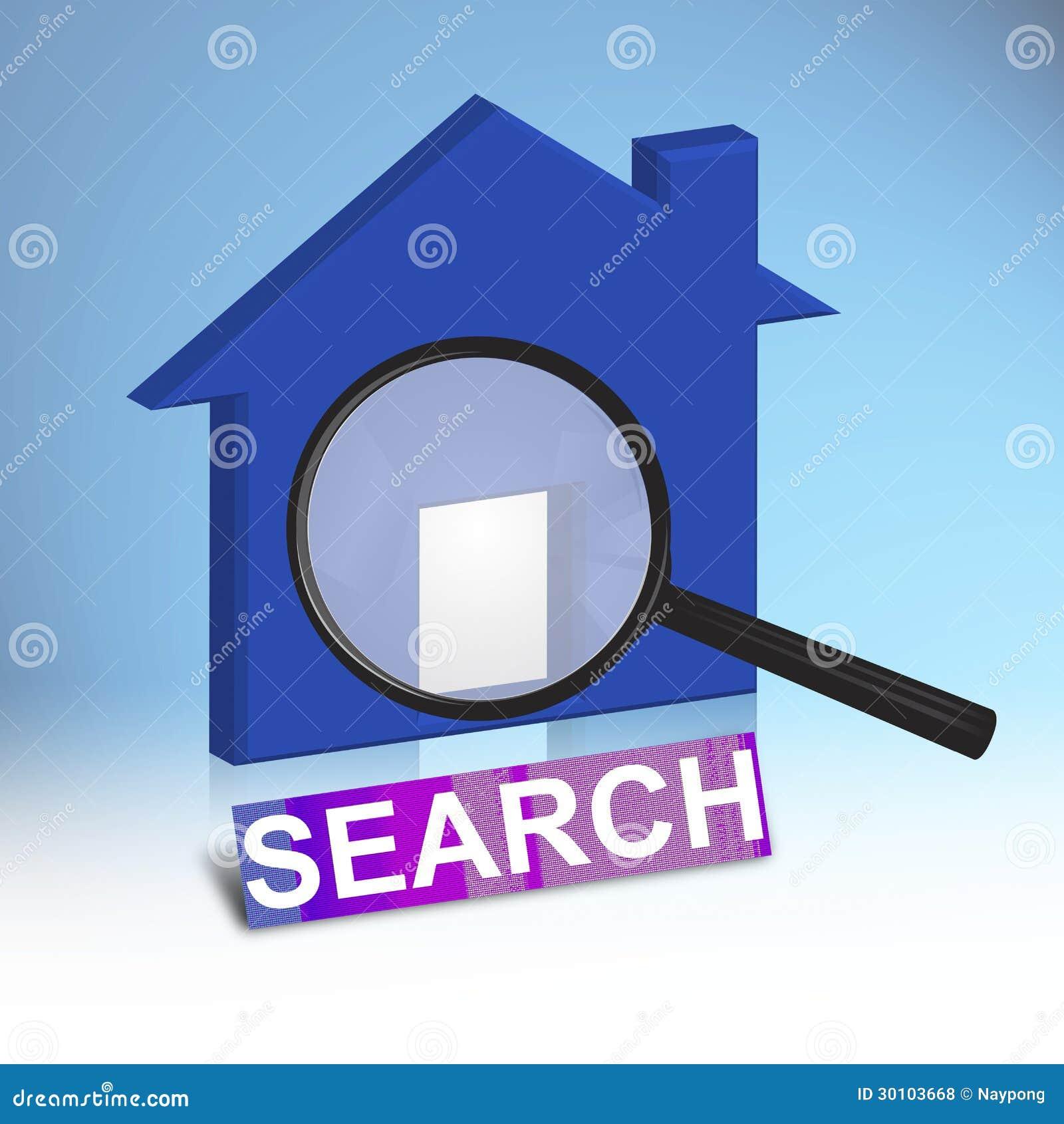 Casa blu illustrazione di stock immagine di reale for Concetto di piani per la casa