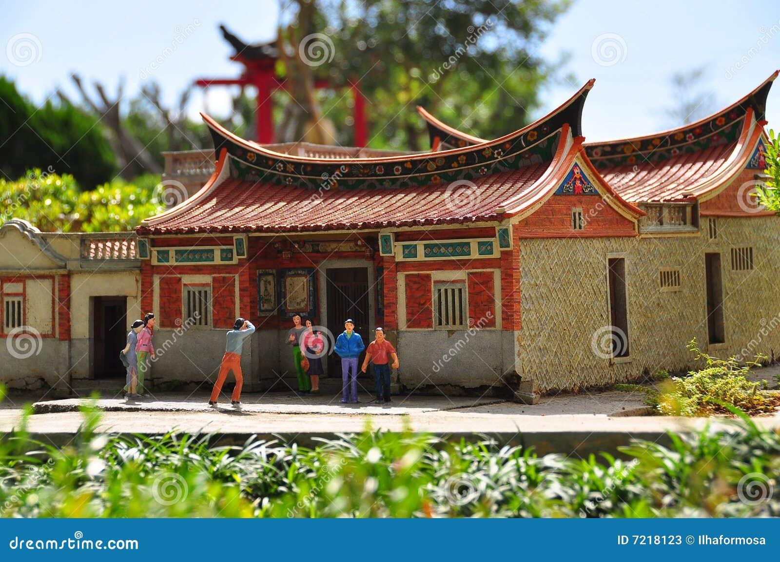 Casa cinese fotografie stock immagine 7218123 for Casa tradizionale cinese