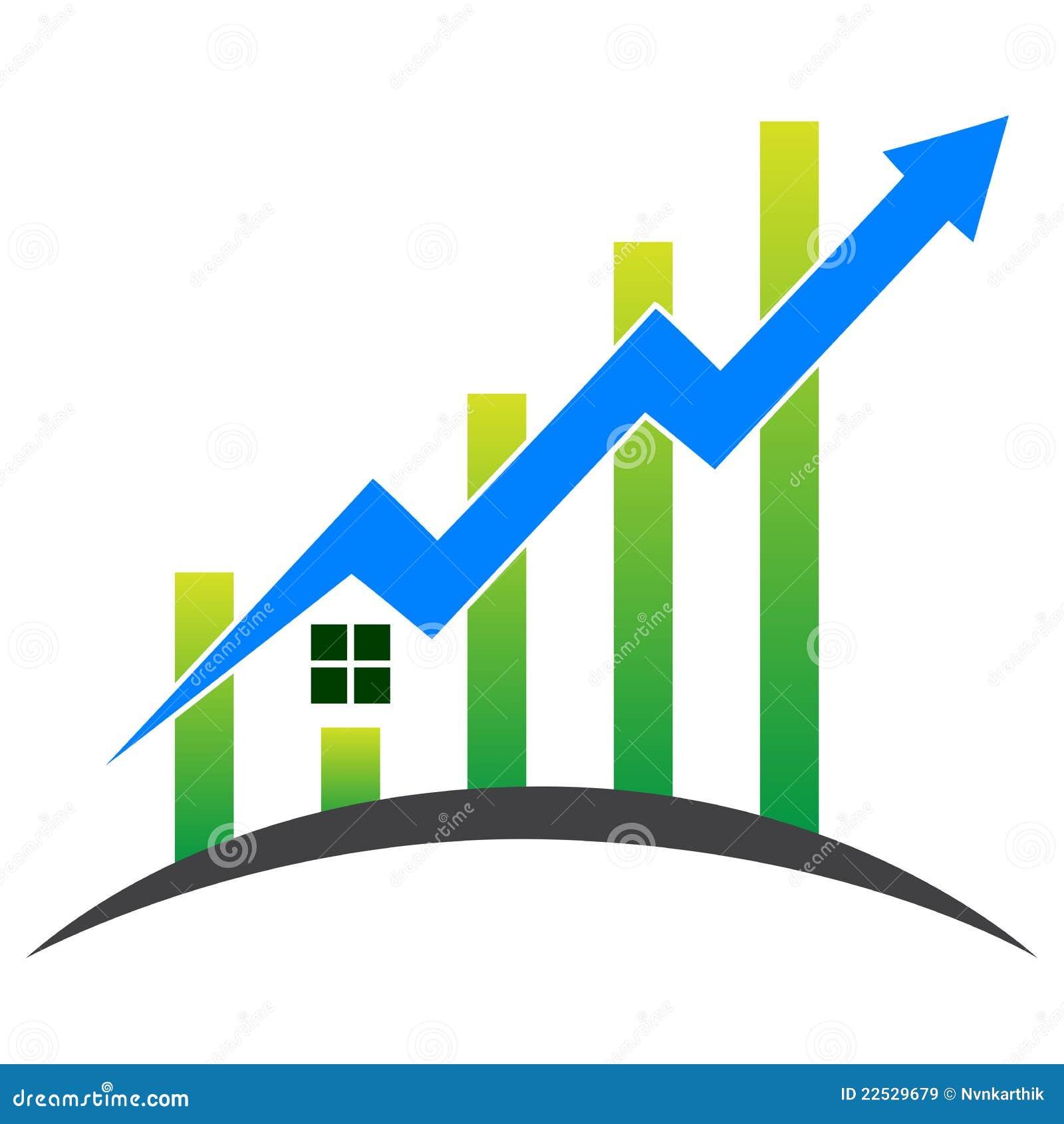 Casa com gráfico