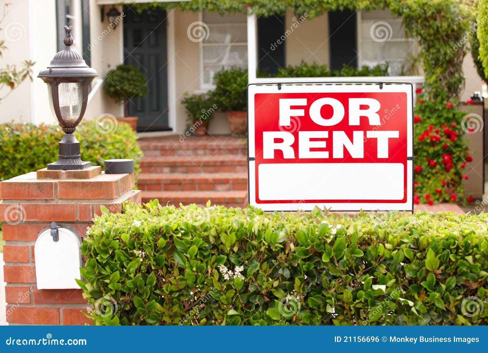 Casa com para sinal do aluguel