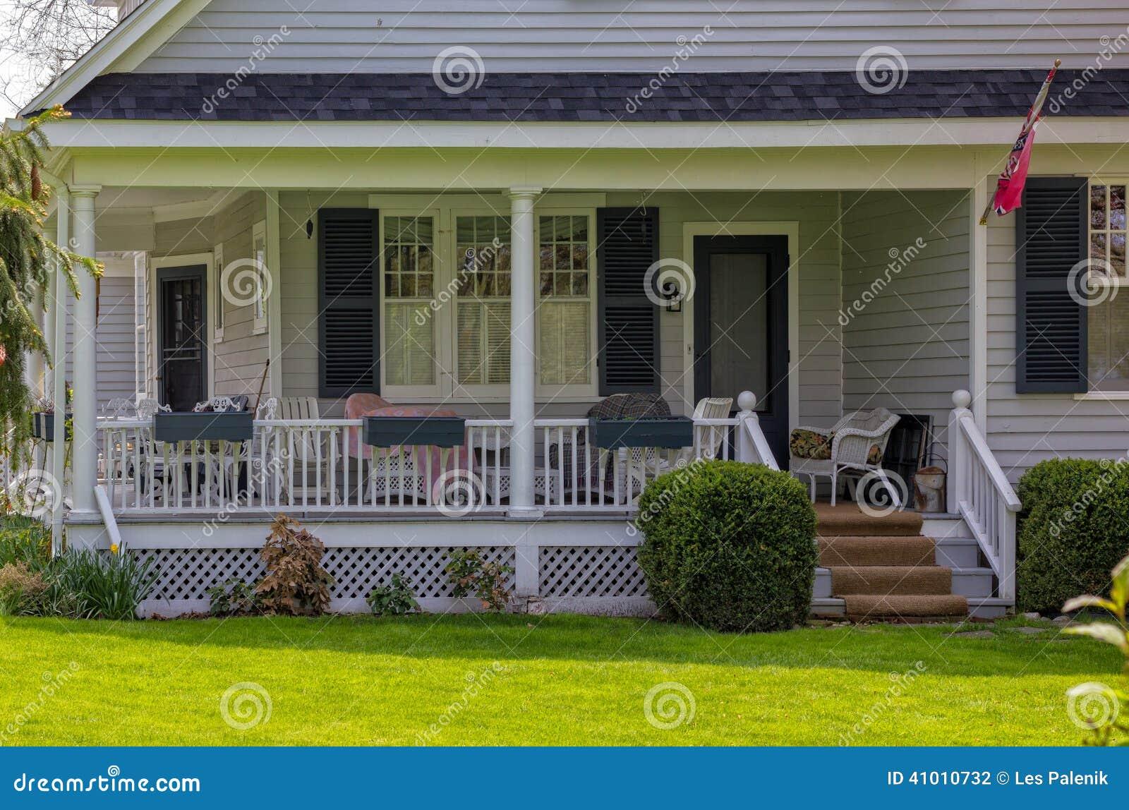 Casa com um patamar