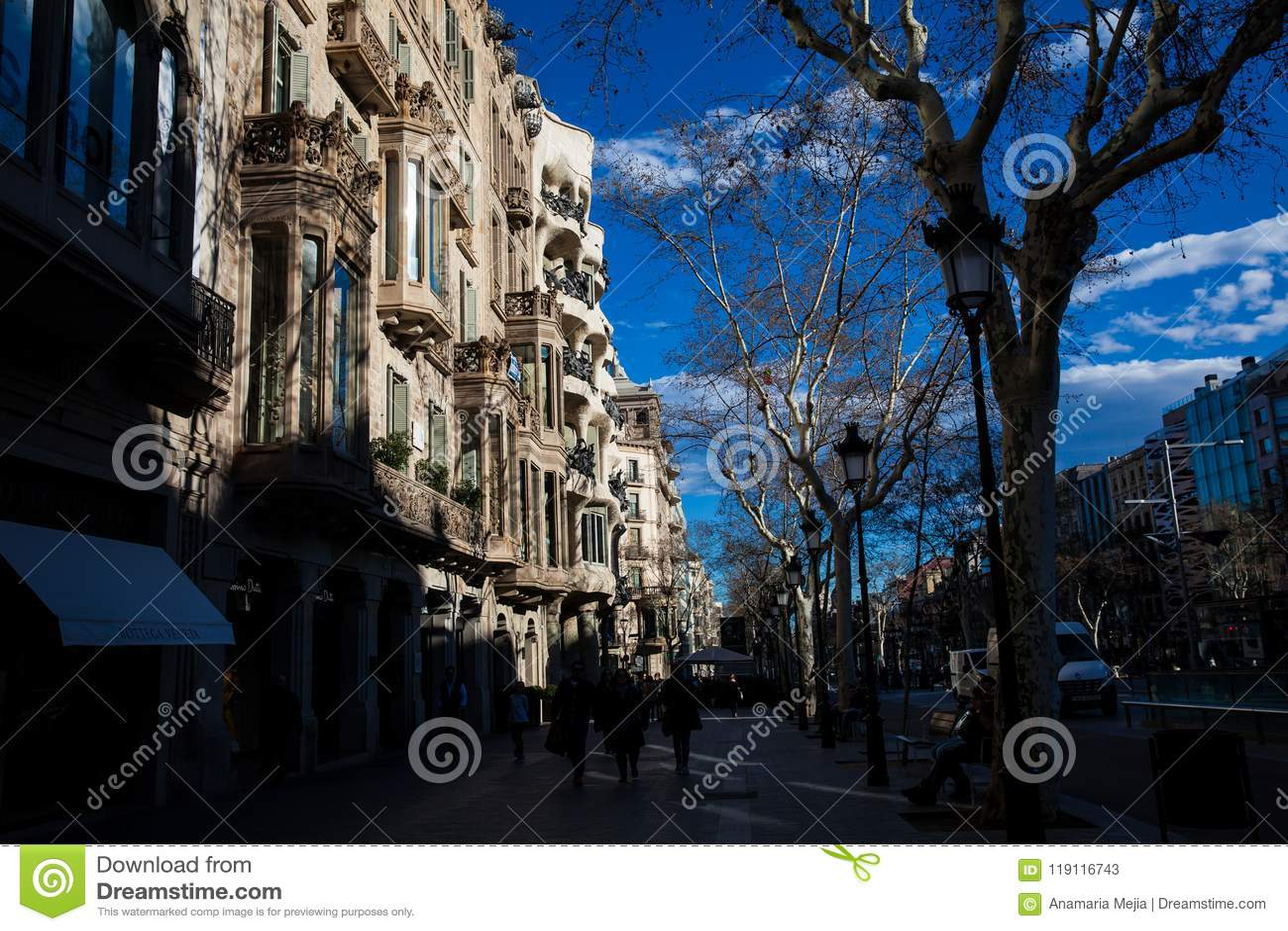 Casa Comalat i Barcelona Spanien