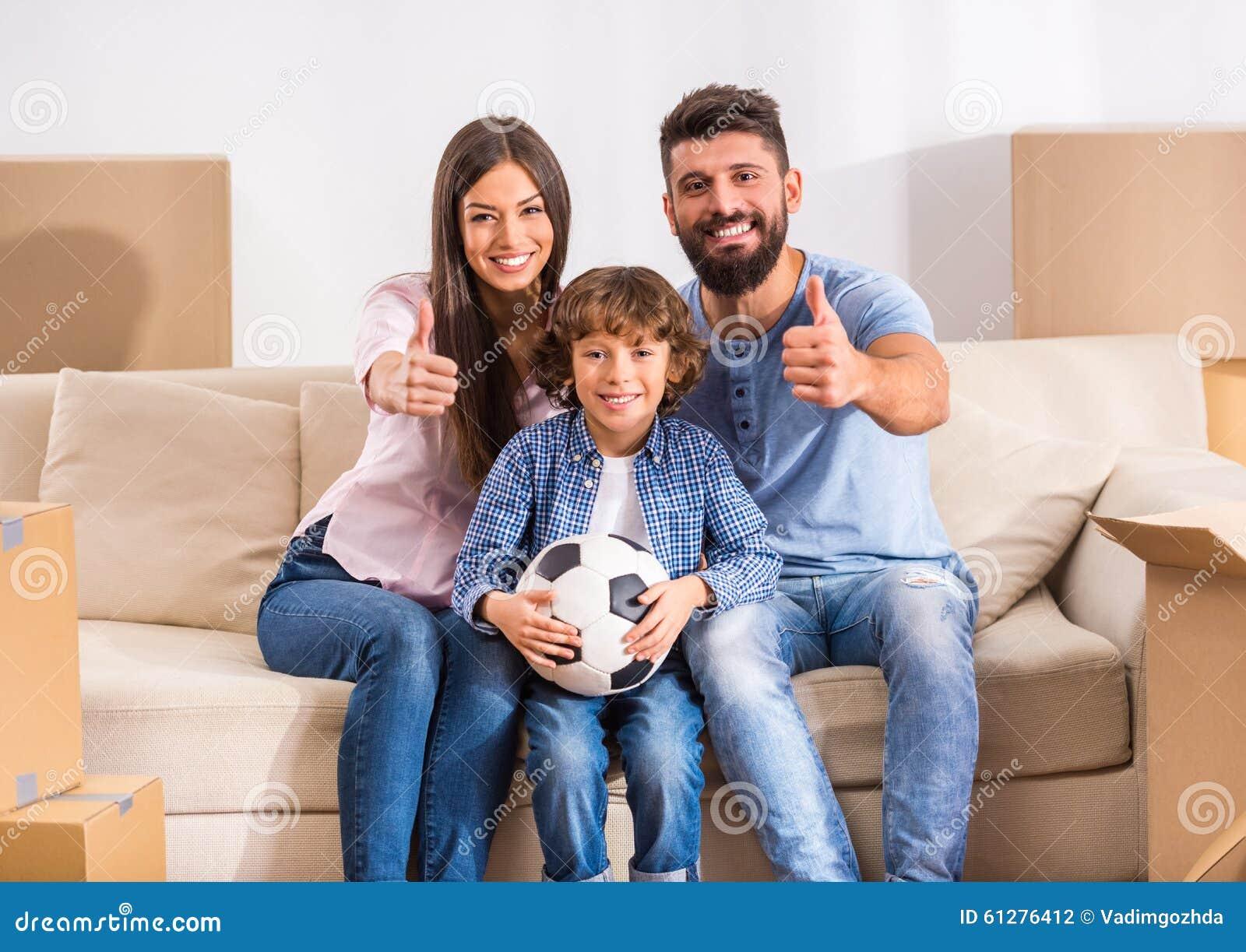 Casa commovente della famiglia