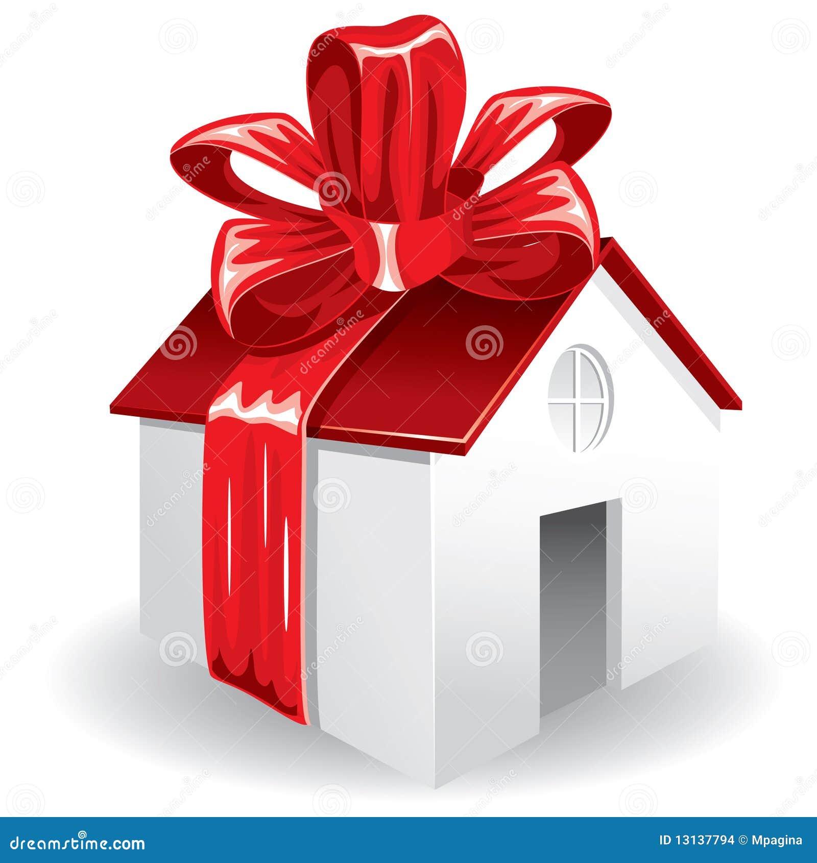 casa como regalo para usted ilustraci n del vector