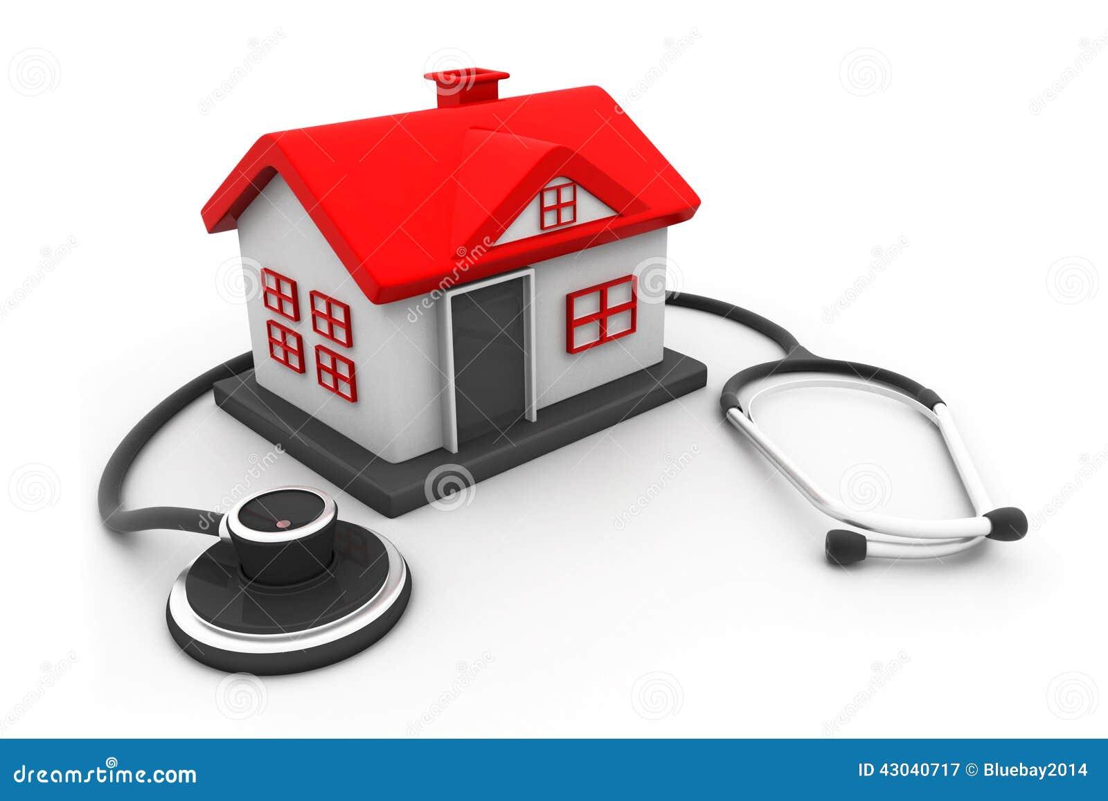 casa con el estetoscopio stock de ilustraci n imagen 43040717. Black Bedroom Furniture Sets. Home Design Ideas