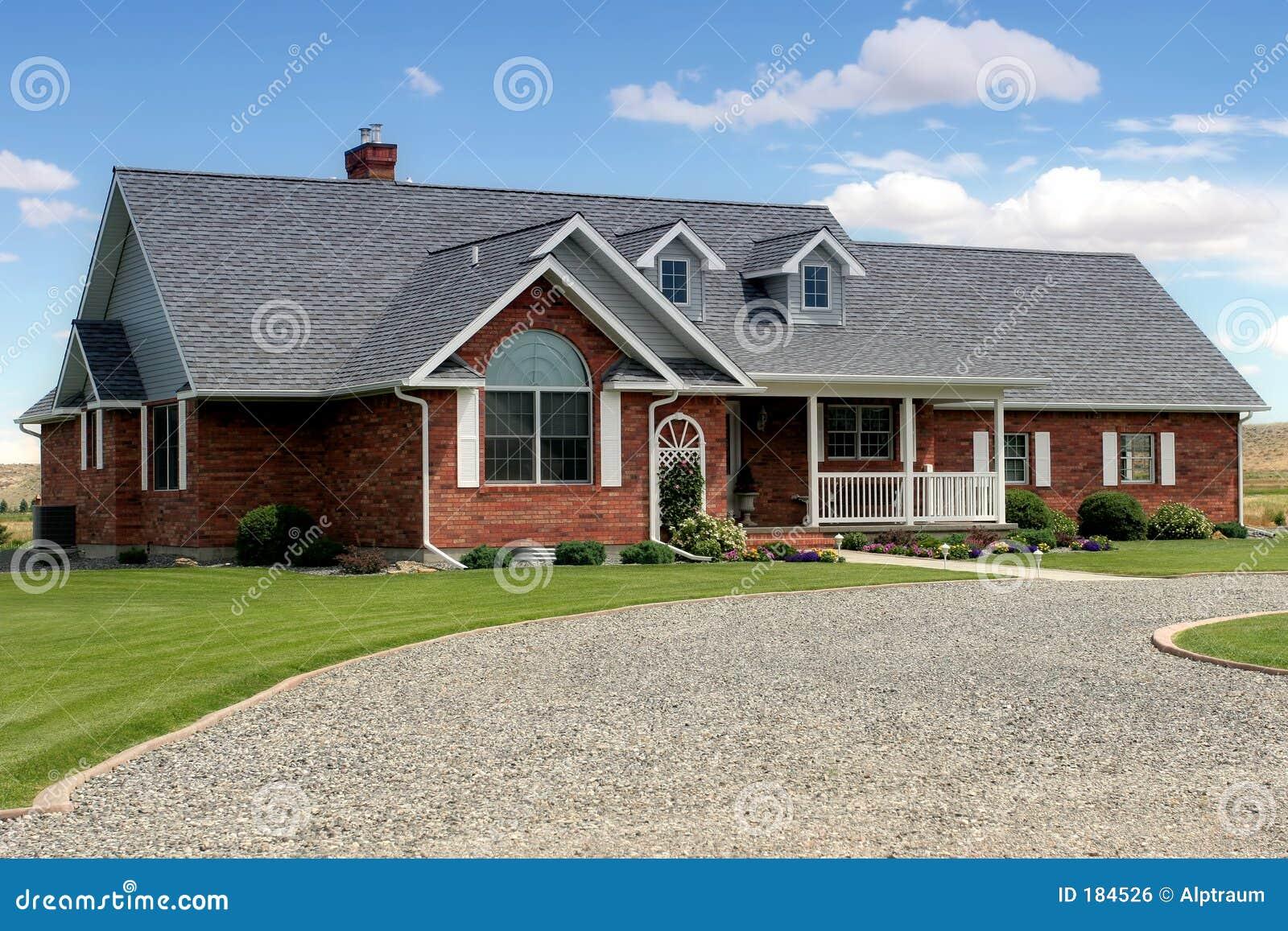 Casa con la strada privata