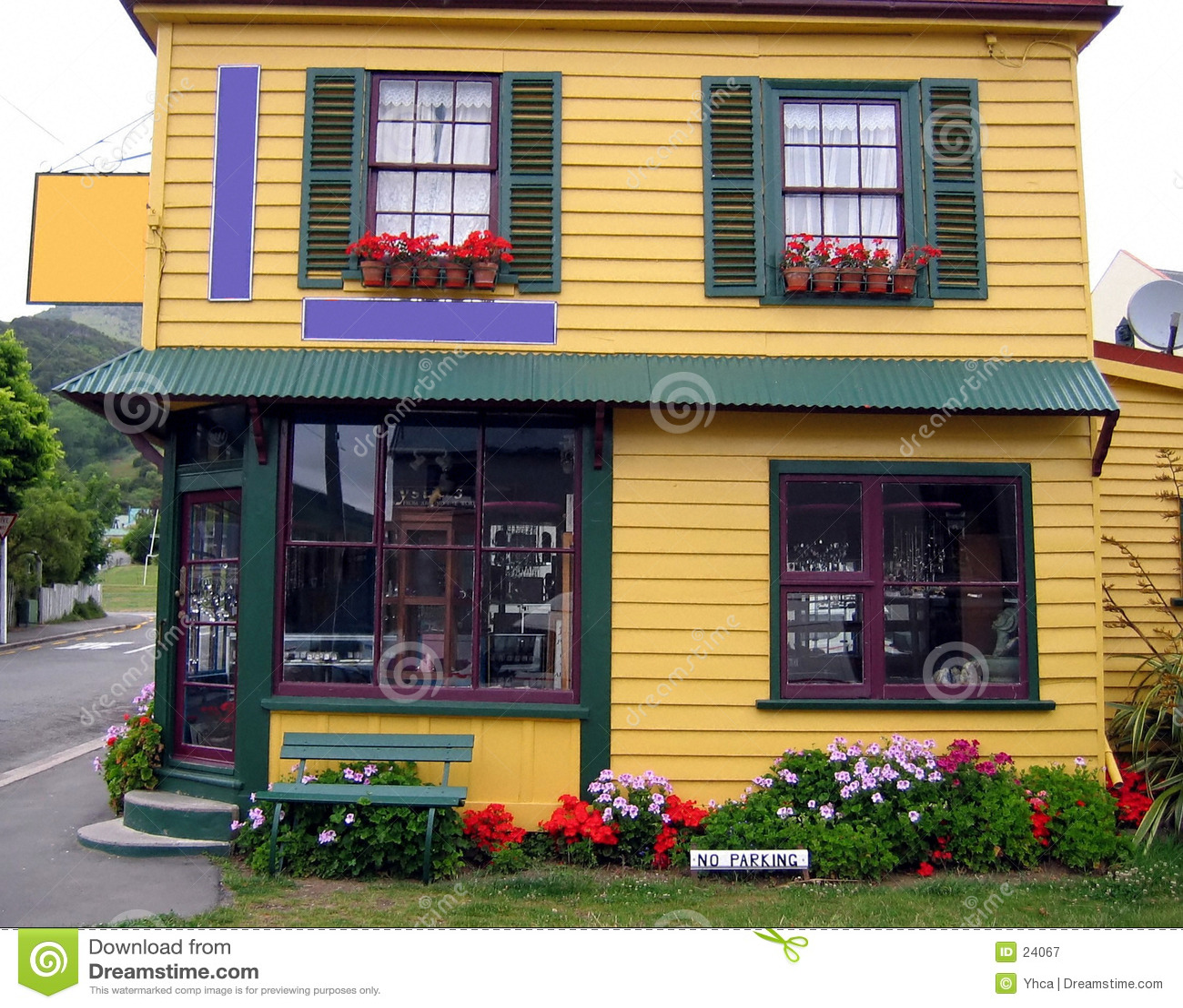 Casa consideravelmente colorida