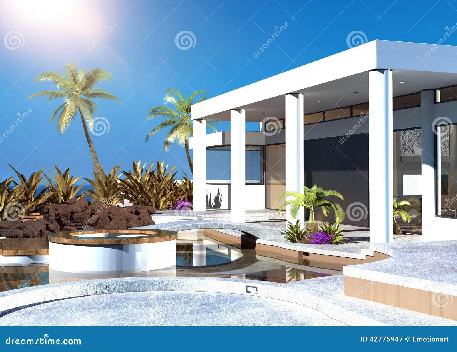 Casa costiera moderna con un patio all 39 aperto for Layout di patio all aperto