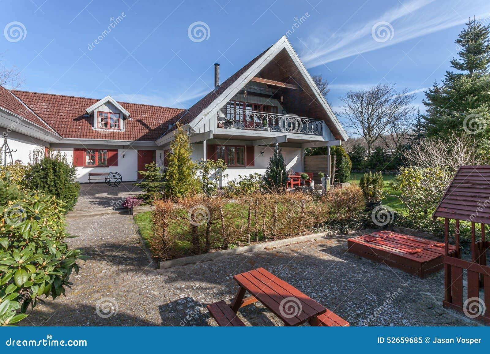Casa da exploração agrícola em Dinamarca