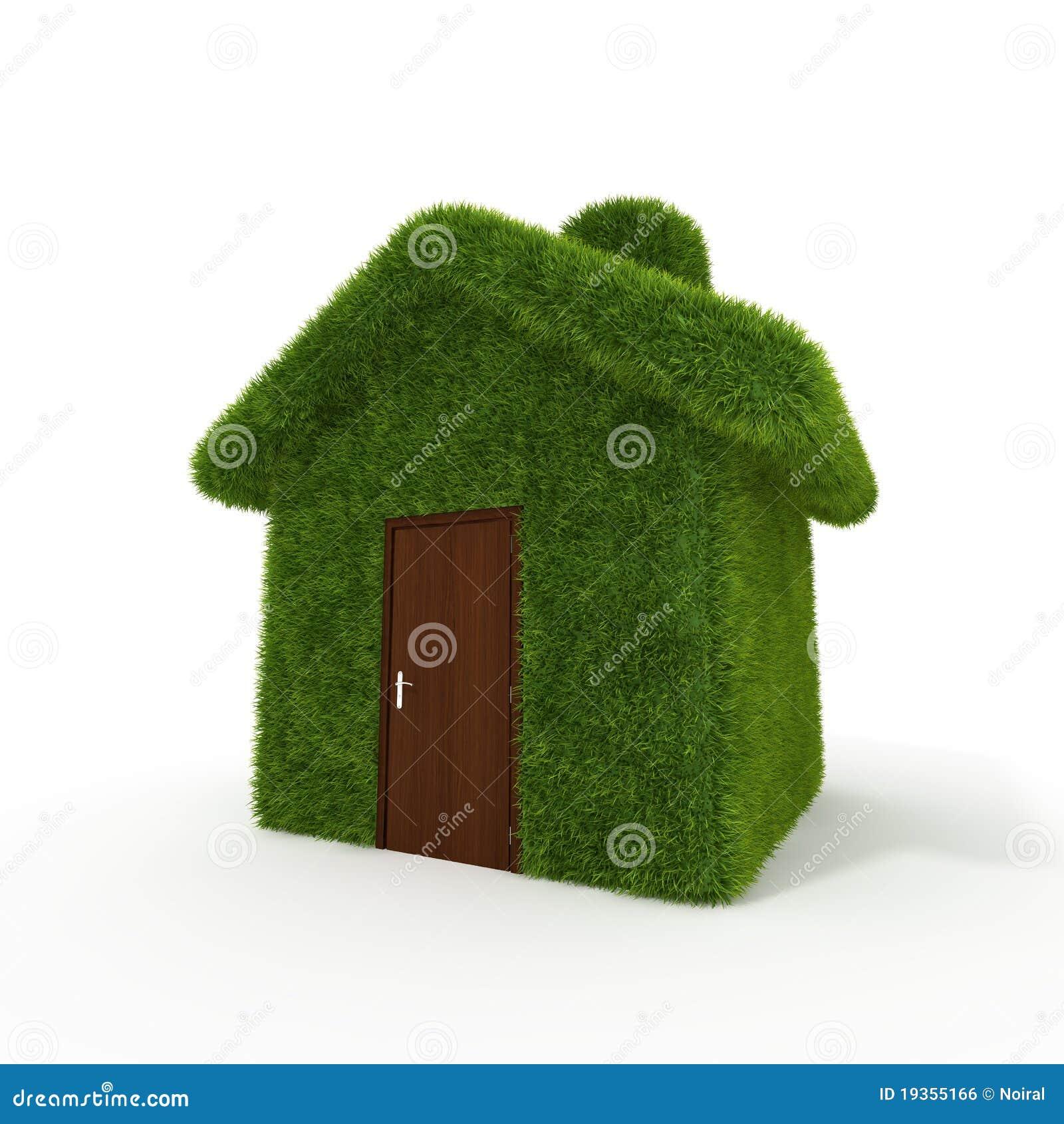 Casa da grama verde