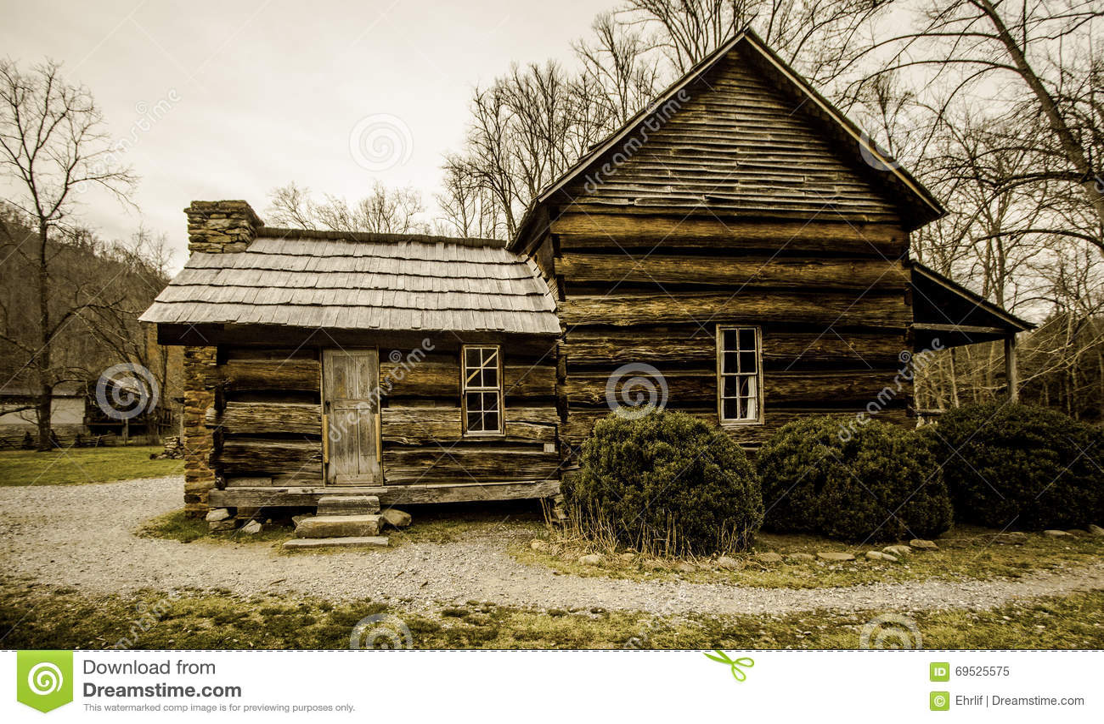 Casa da quinta fumarento do appalachian da montanha