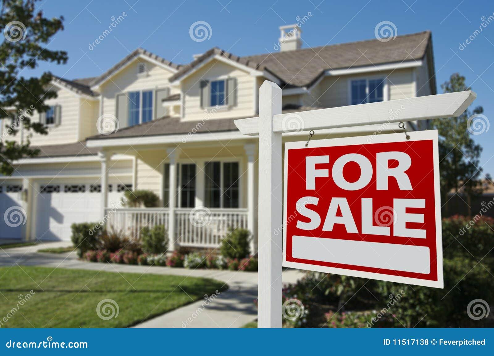 Casa da vendere il segno & la nuova casa