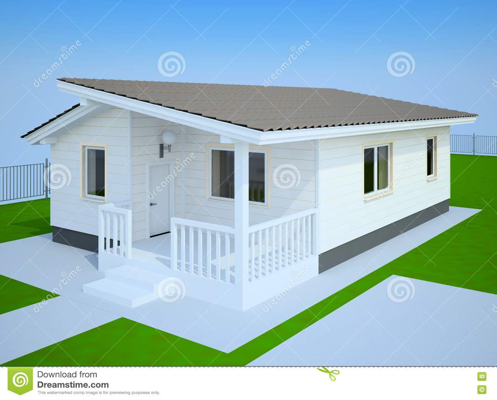 Casa de campo branca pequena foto de stock imagem 17565400 - Casas de campo pequenas ...