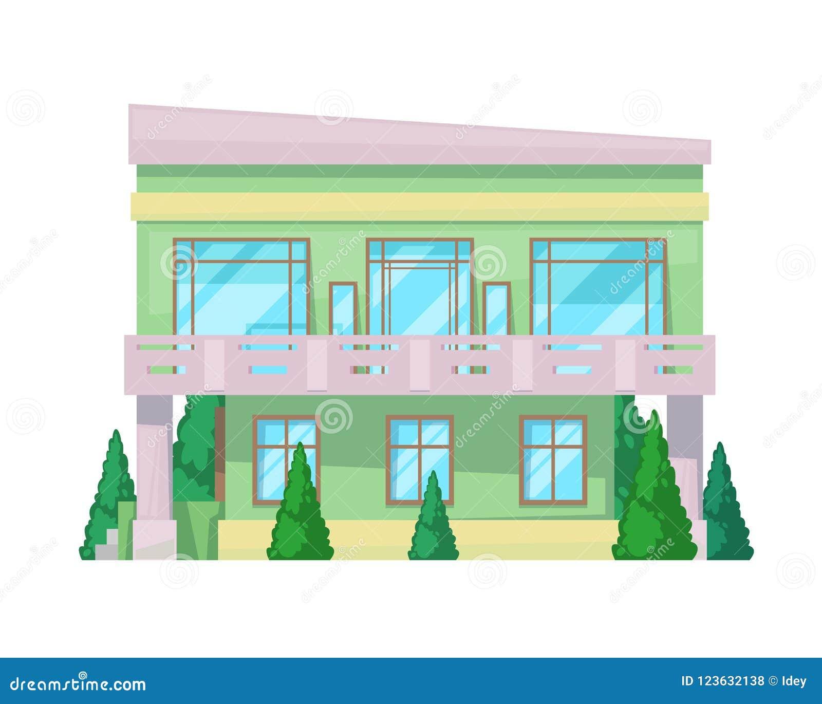 Casa de campo colorida, cabaña de la familia, reconstrucción de la mansión, propiedades inmobiliarias