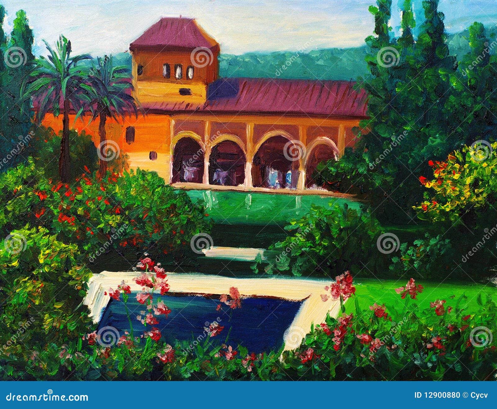 Casa de campo com piscina foto de stock imagem 12900880 - Piscina casa de campo ...