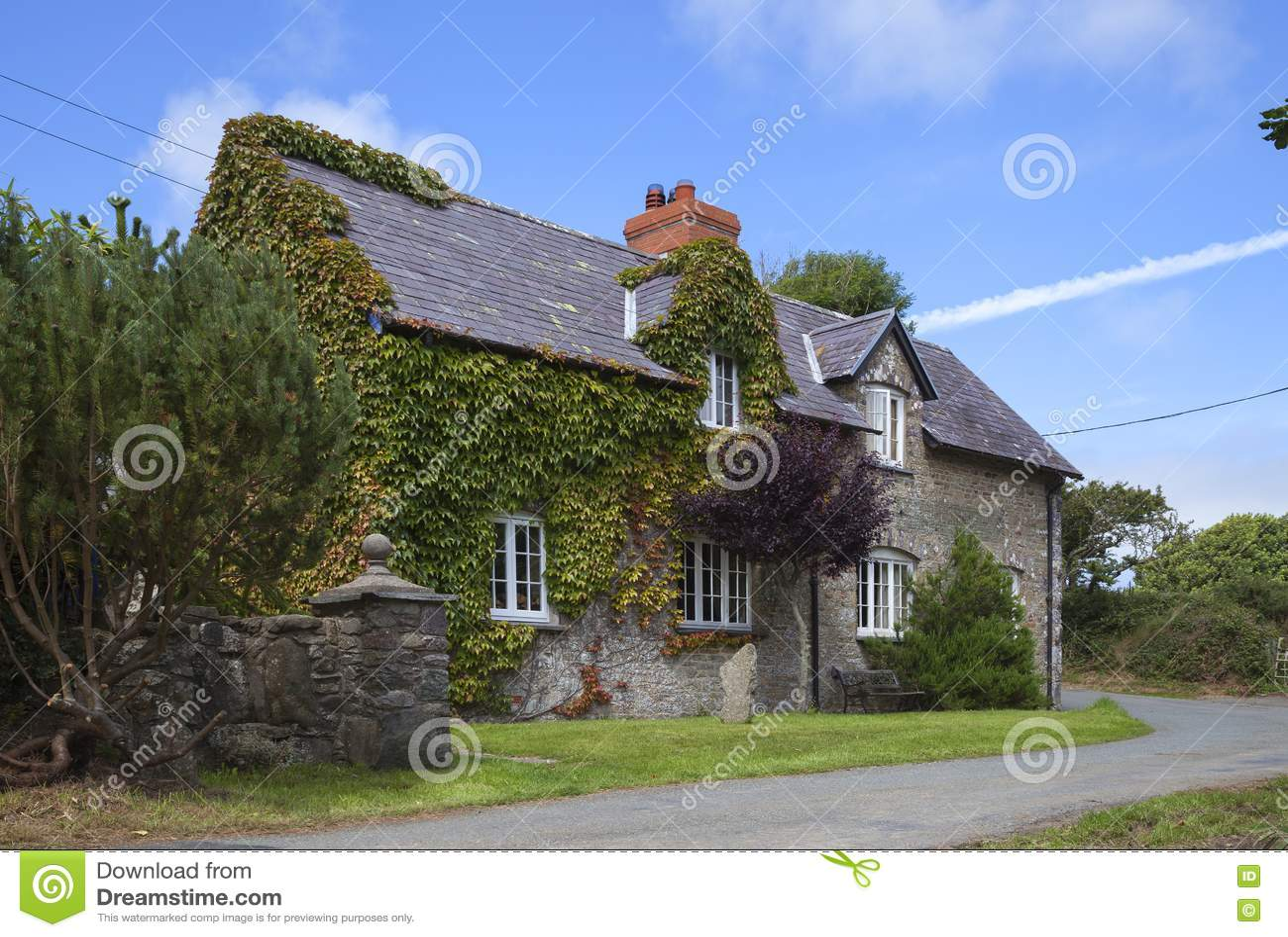 Casa de campo da pedra de Galês
