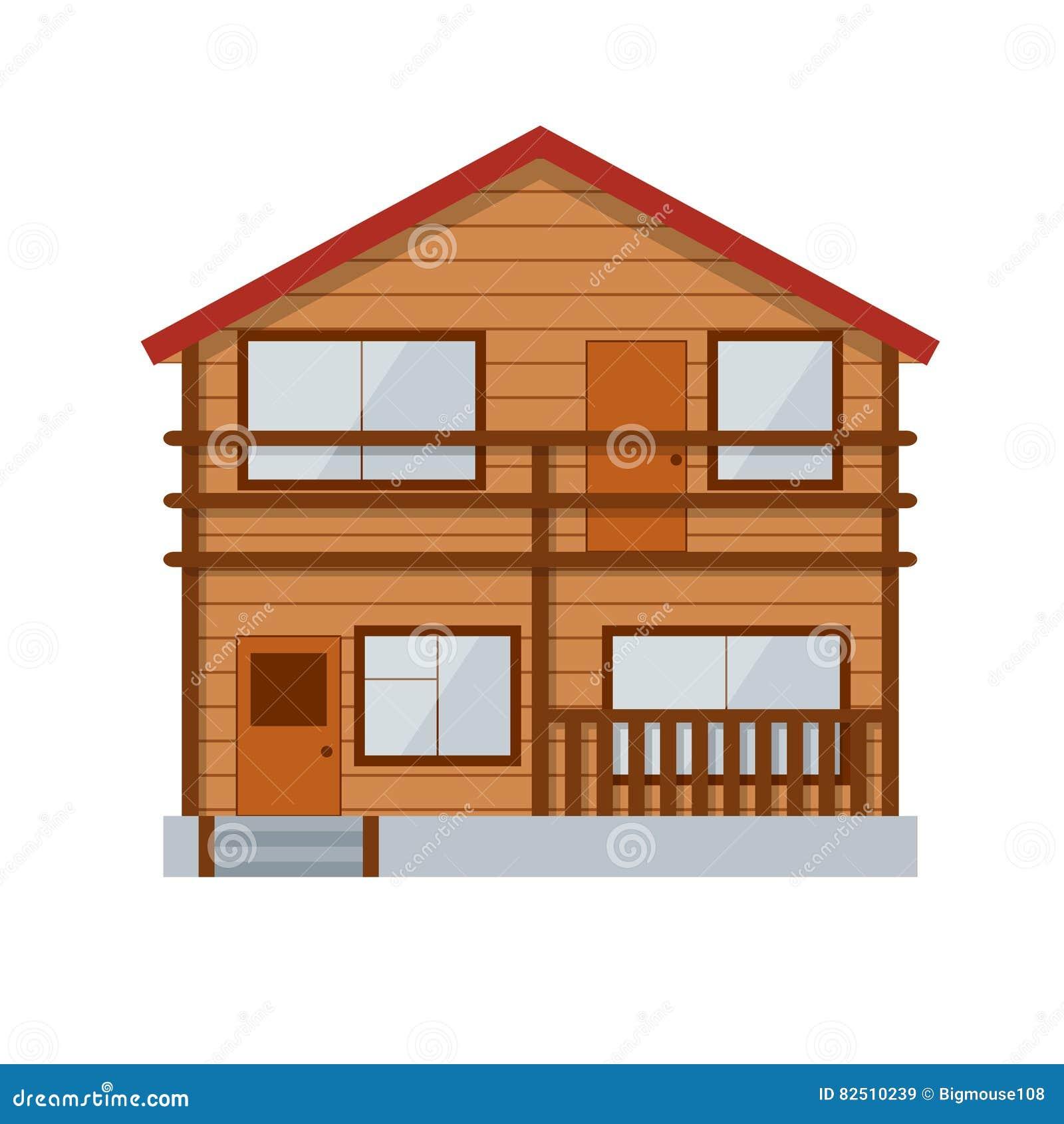 Casa de campo de madera vector ilustraci n del vector - Casas de campo madera ...