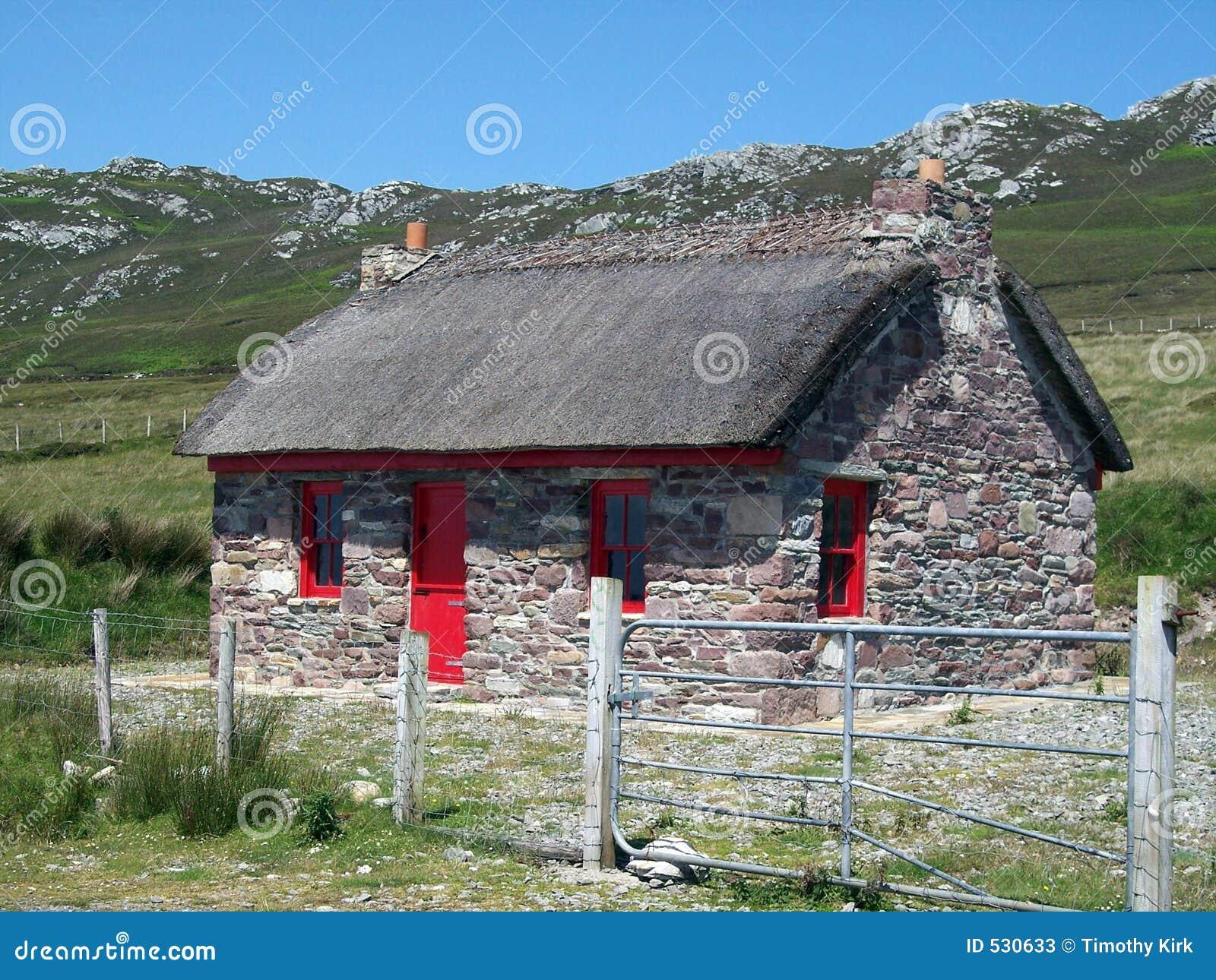 Casa de campo de pedra em Ireland