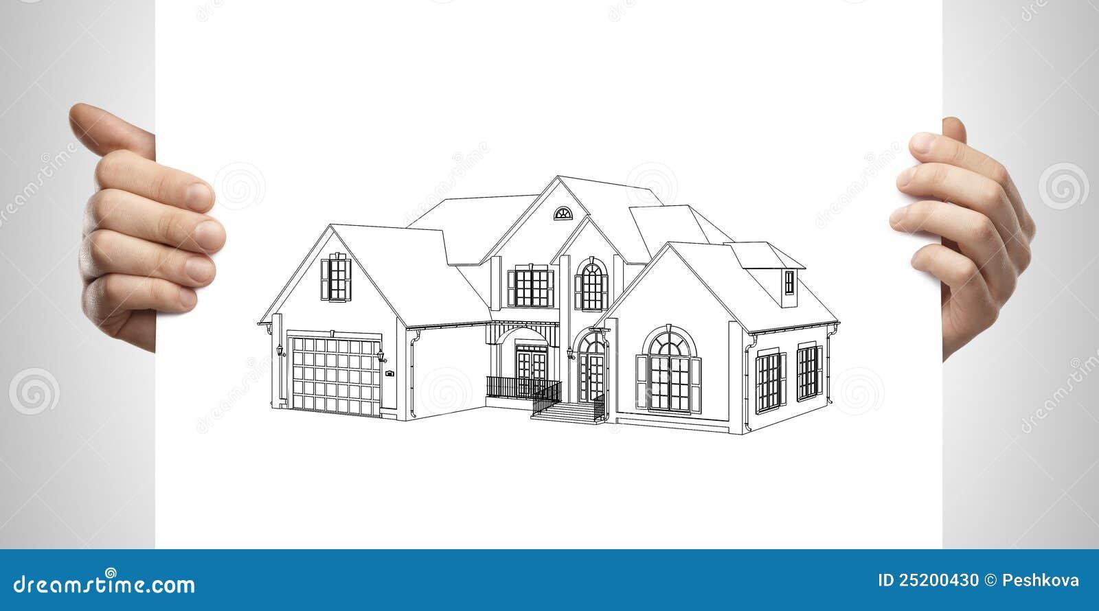 Casa De Campo Do Desenho Disponivel Foto De Stock Imagem