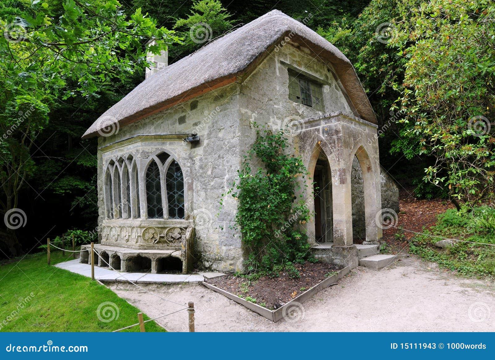 Casa de campo do telhado Thatched