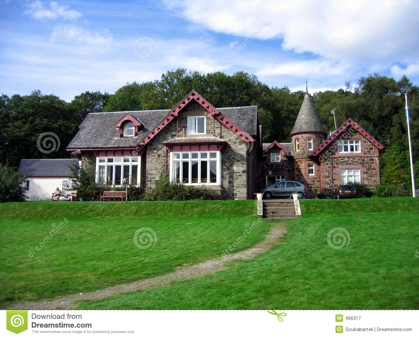 Casa de campo escocesa fotografia de stock royalty free - Fotos de casas de campo ...