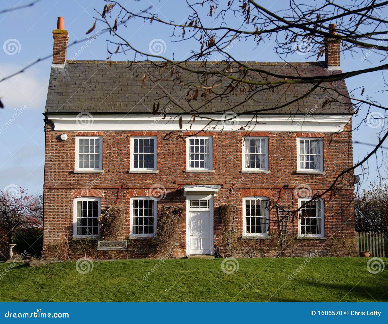casa de campo inglesa foto de archivo imagen de lujo