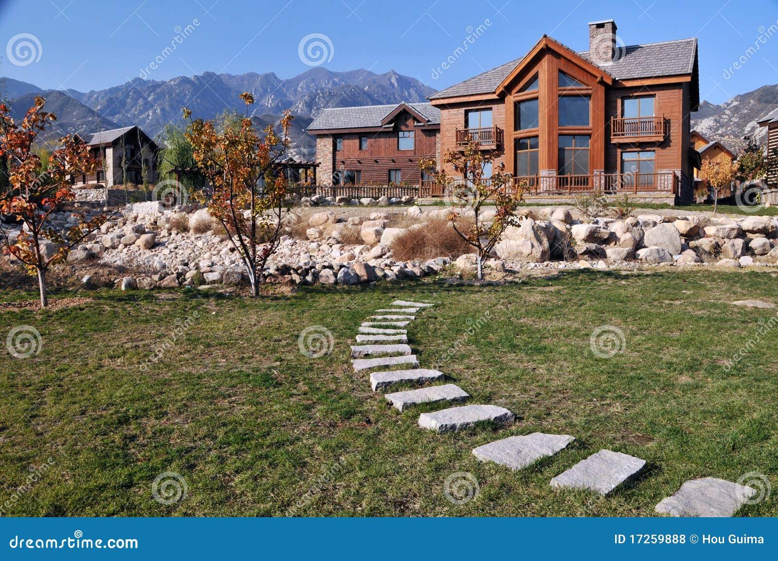 Casa de campo moderna fotos de stock royalty free imagem - Casas de campo modernas ...