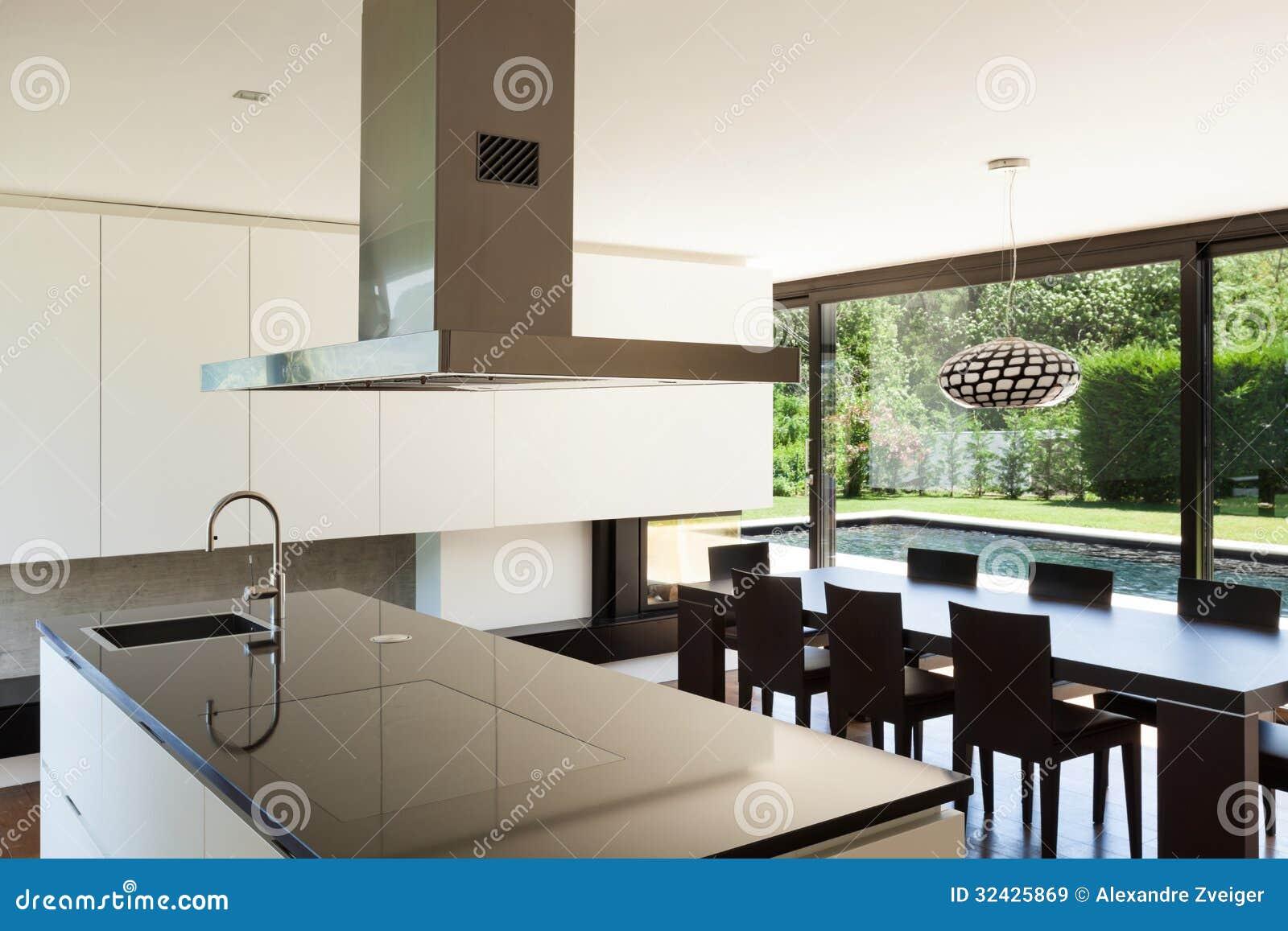 Casa de campo moderna interior imagem de stock imagem - Disenos de chalets modernos ...