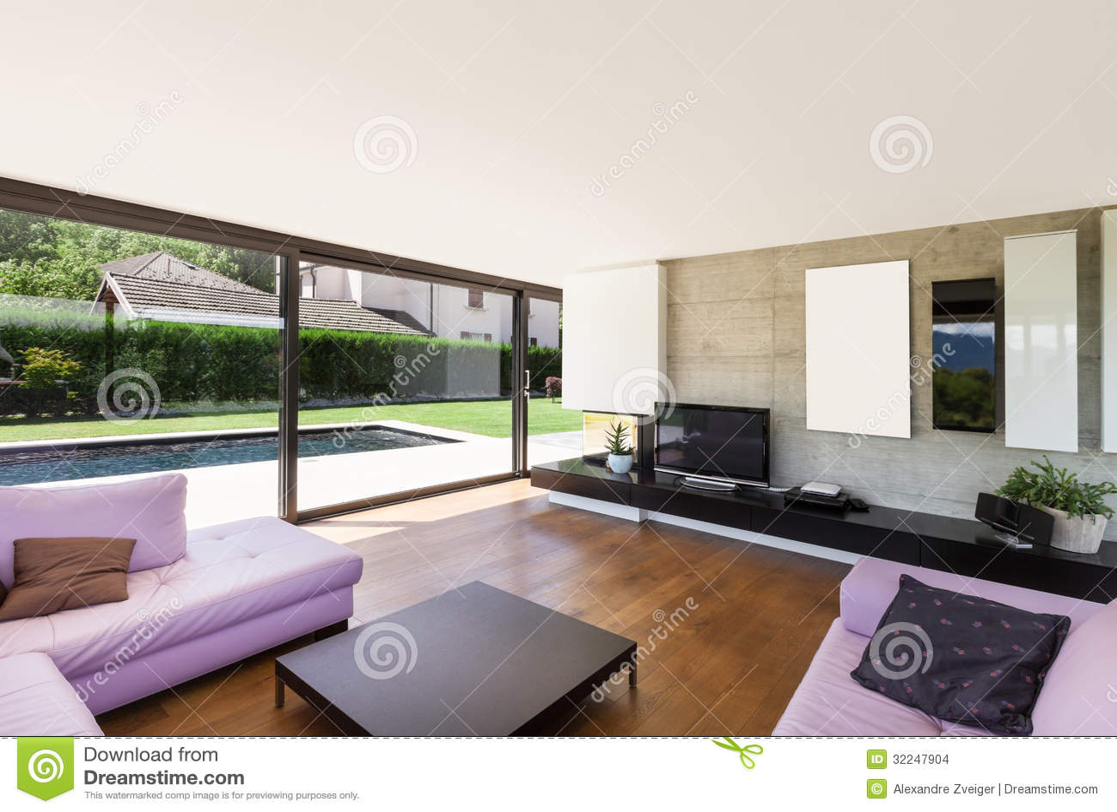 Casa de campo moderna interior sala de visitas imagens - Casas modernas interior ...