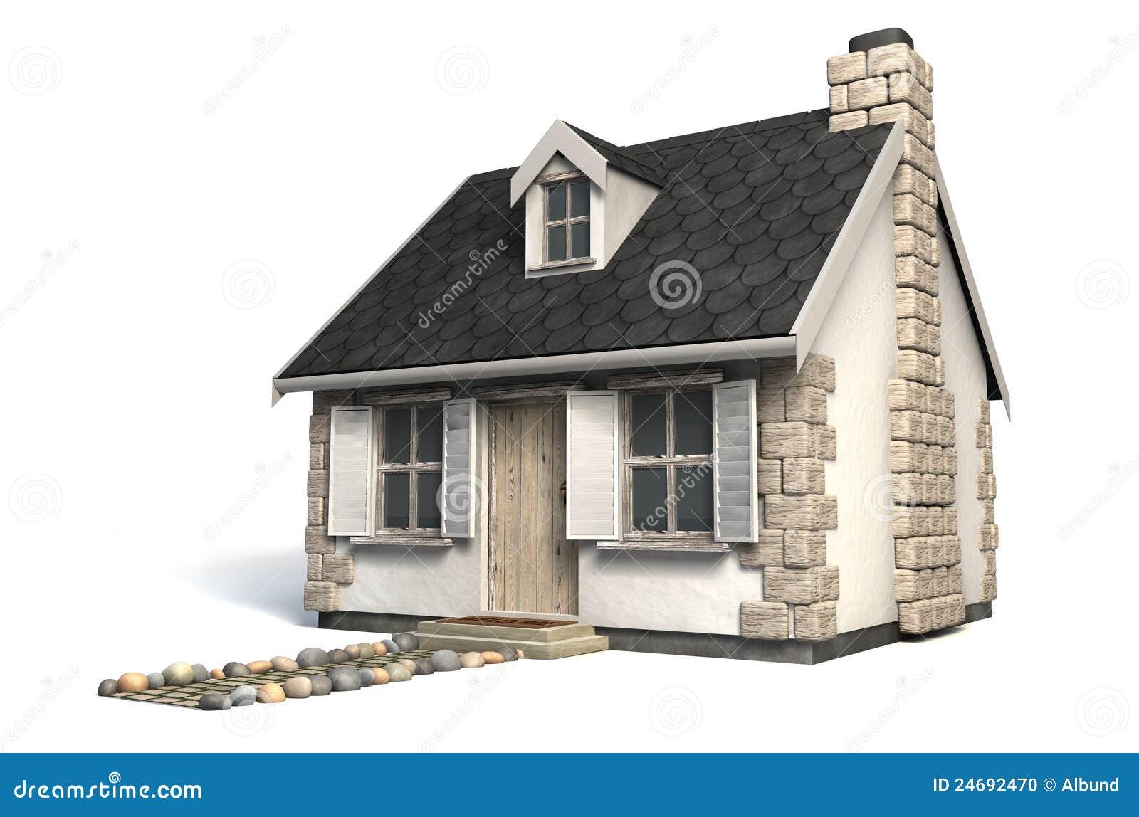 Casa de campo pequena catita foto de stock imagem 24692470 for Planos de casas chicas
