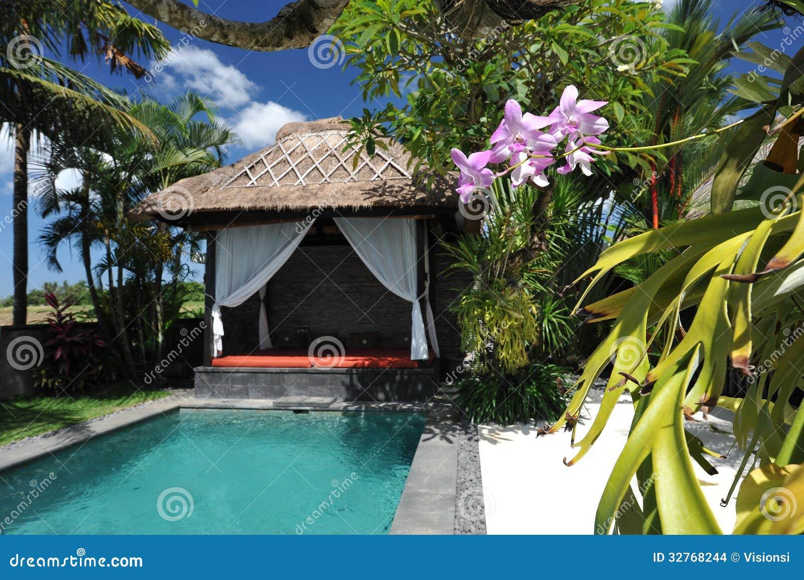 Casa de campo tropical moderna com piscina imagens de - Piscina casa de campo ...