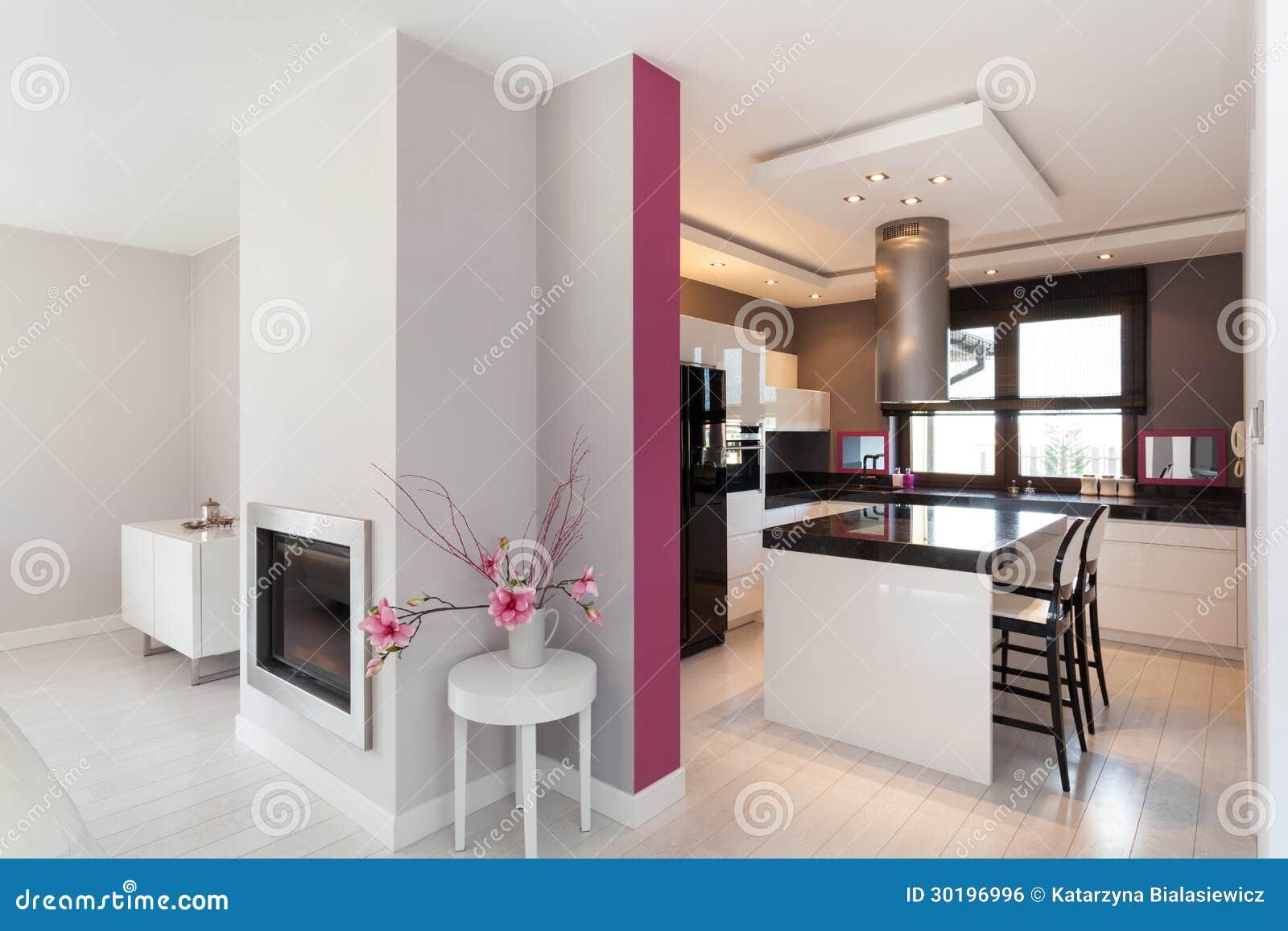 Casa de campo vibrante - cozinha
