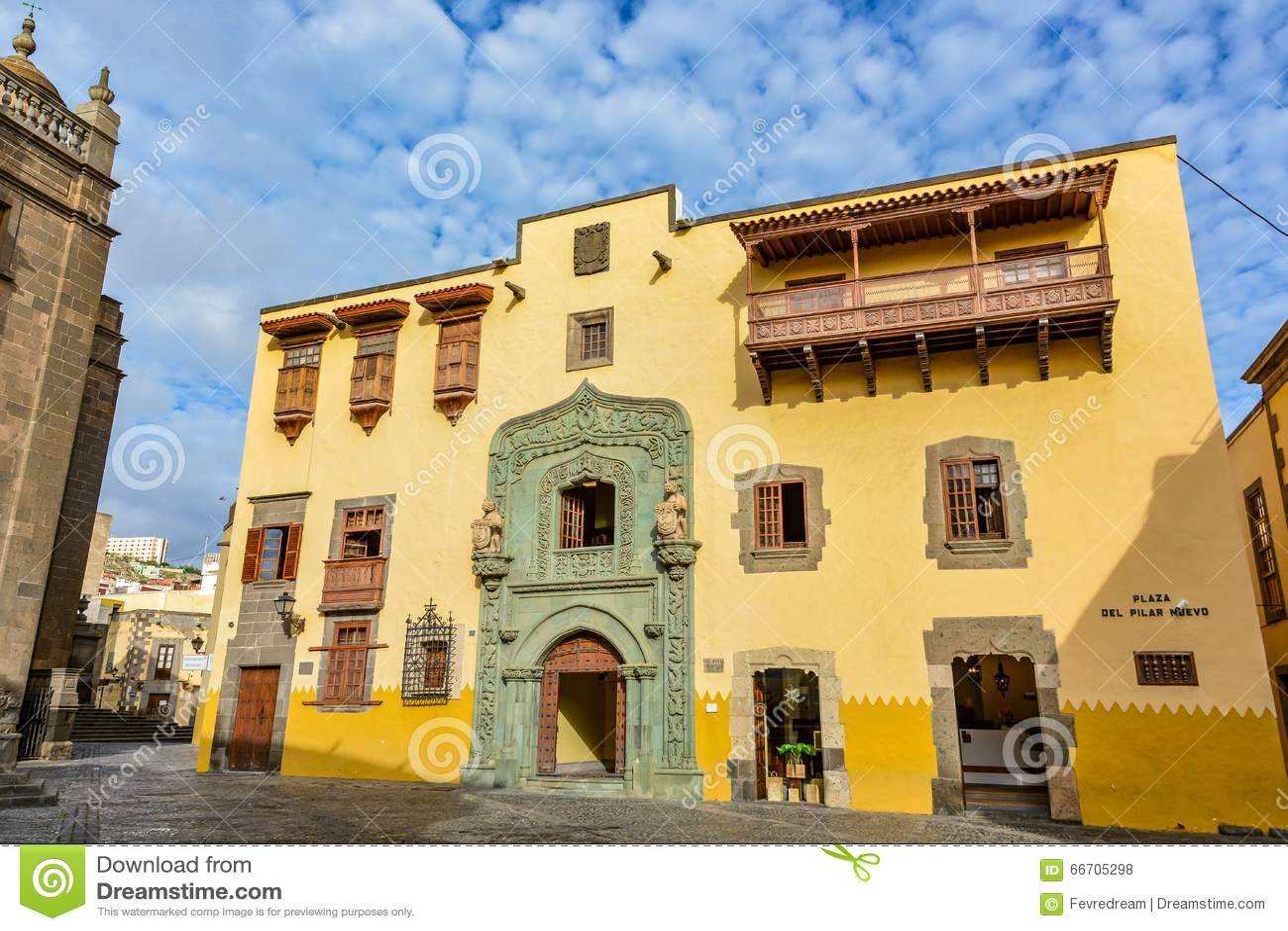 Casa de colon the house of christopher columbus las palmas gran canaria spain stock photo - Apartamentos puerto rico las palmas ...