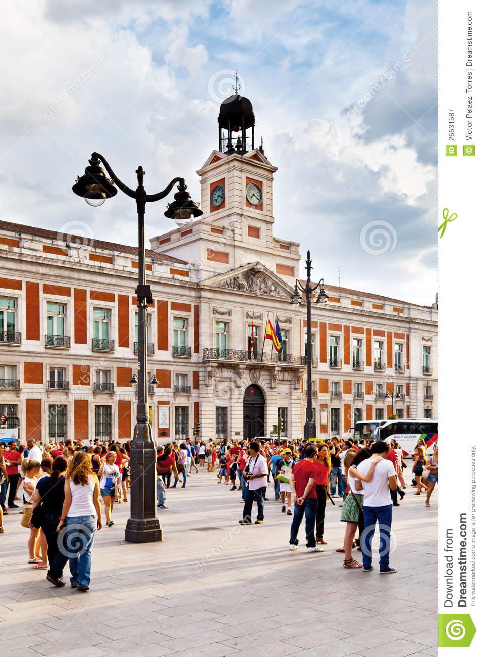 Casa de correos in puerta del sol madrid editorial for Casa de correos