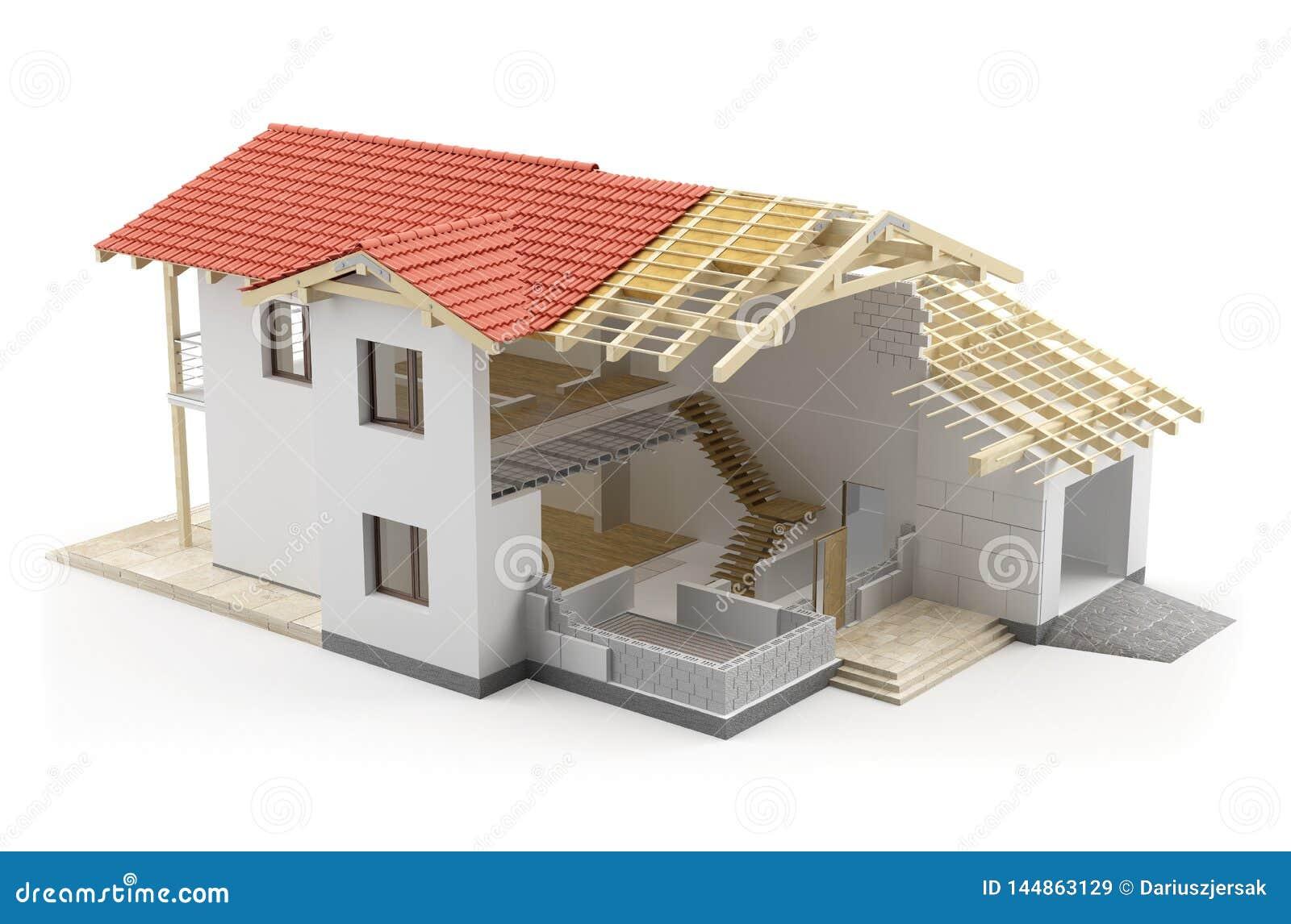 Casa de la construcción, ejemplo 3D
