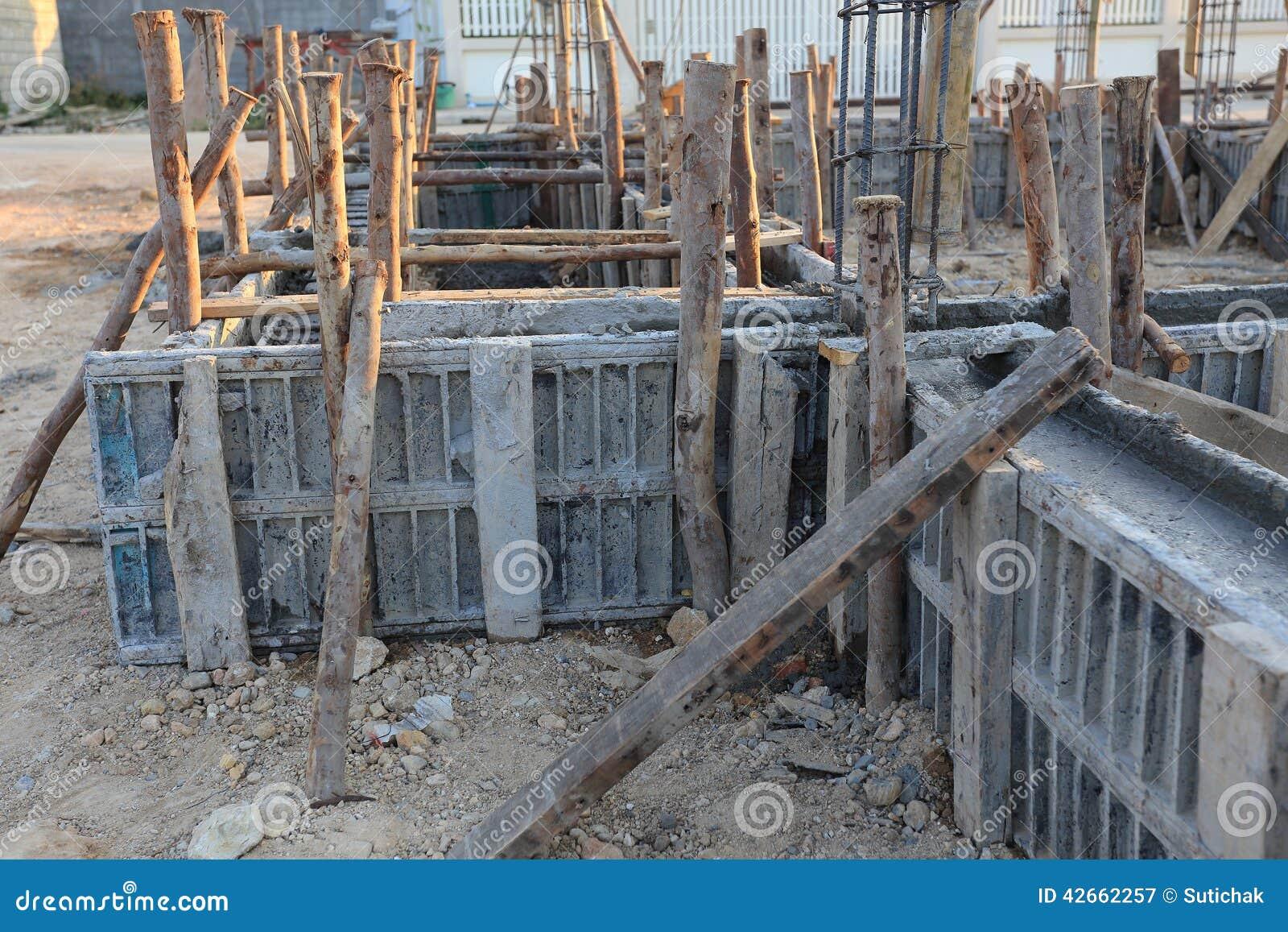 Casa De La Construcción, Marco Del Metal Del Refuerzo Imagen de ...