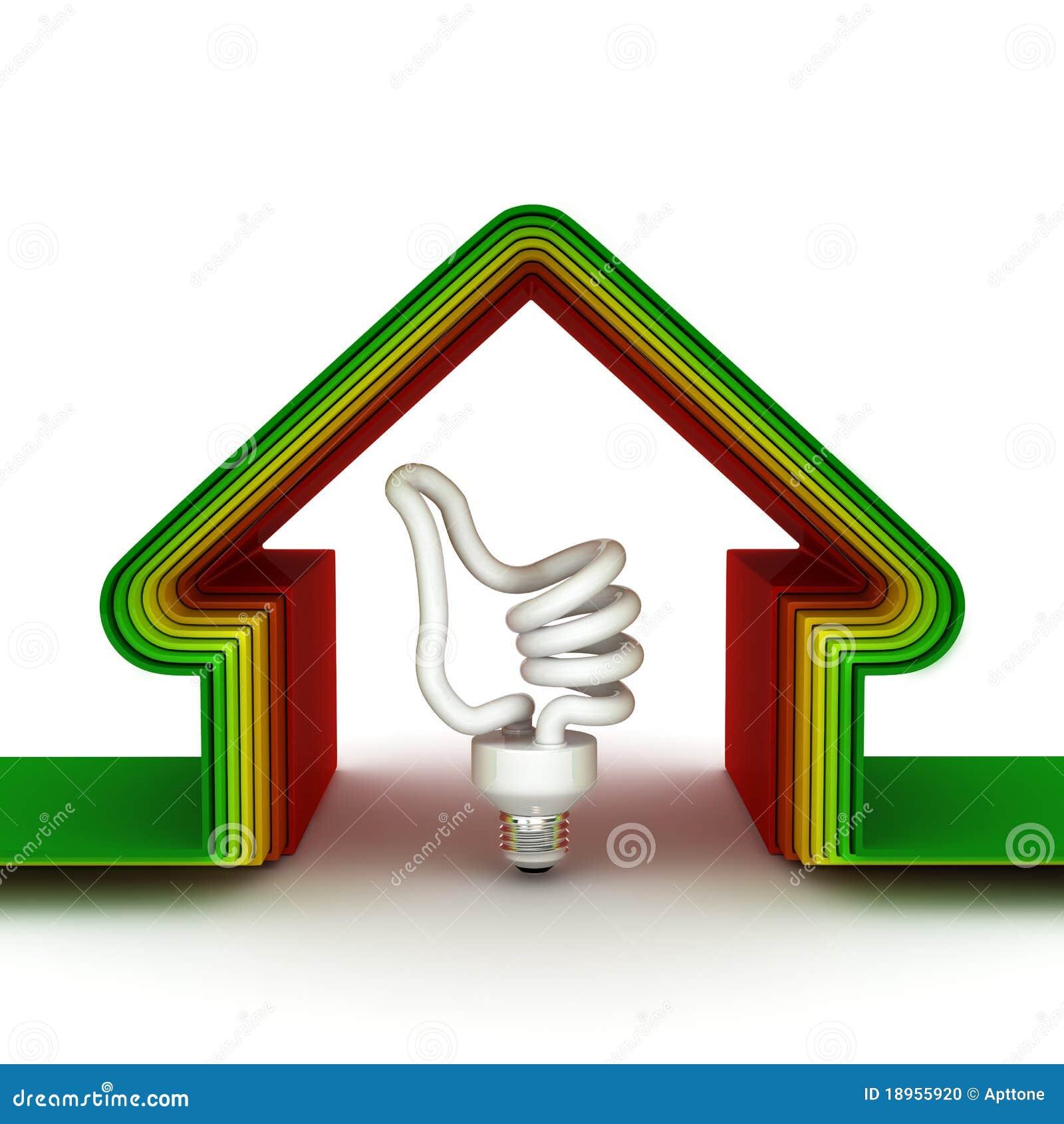 Casa de la energía. Concepto ahorro de energía