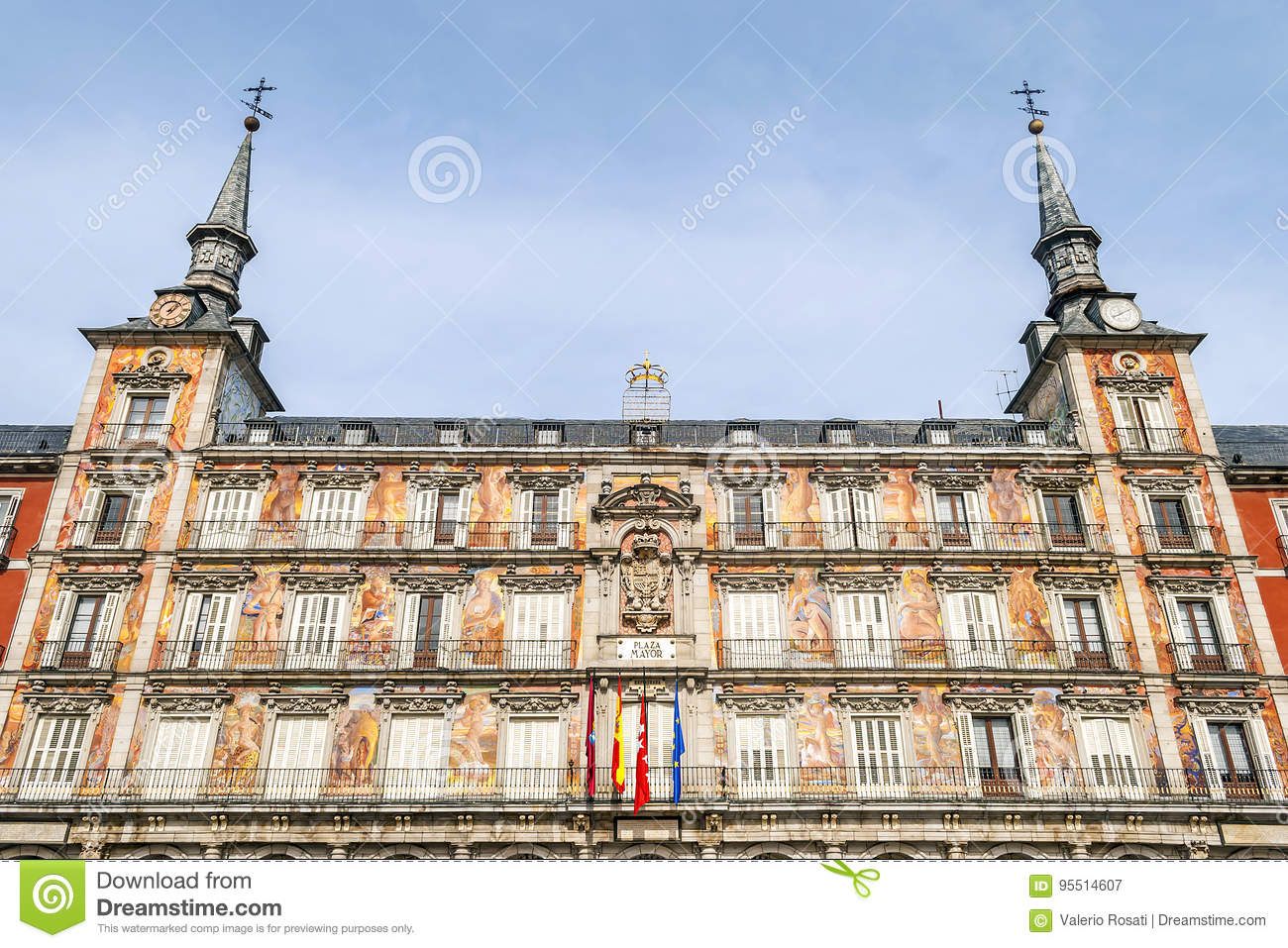 Casa De La Panaderia On Plaza Mayor In Madrid Stock Image Image Of