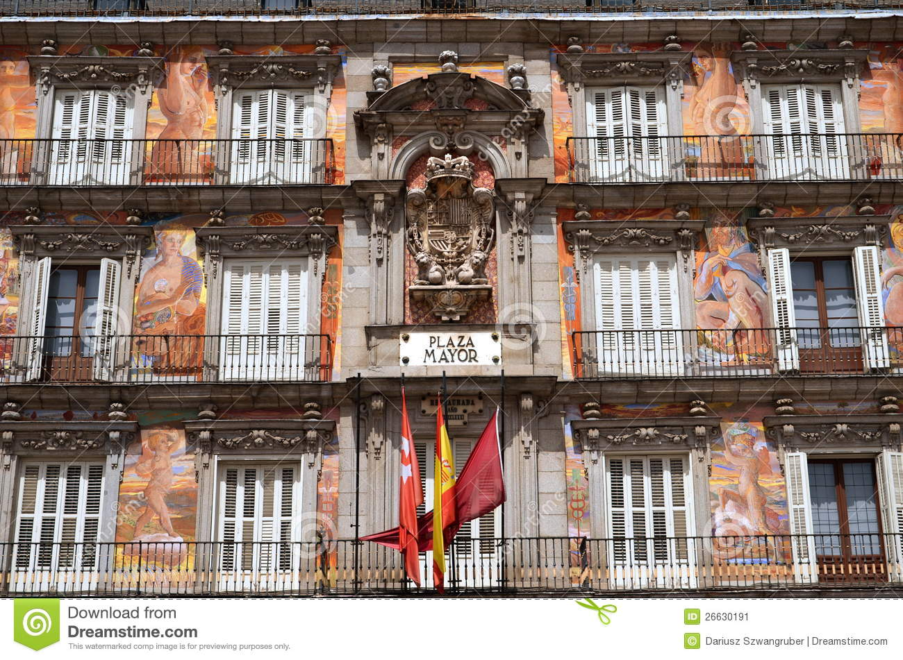 Casa de la panaderia on plaza mayor in madrid spa editorial photo image of great apartment - Casa de la panaderia madrid ...